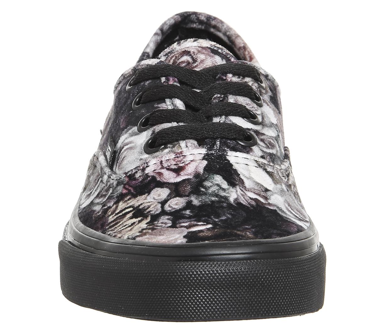 1148b3d57b Sentinel Womens Vans Authentic Trainers VELVET FLORAL BLACK Trainers Shoes