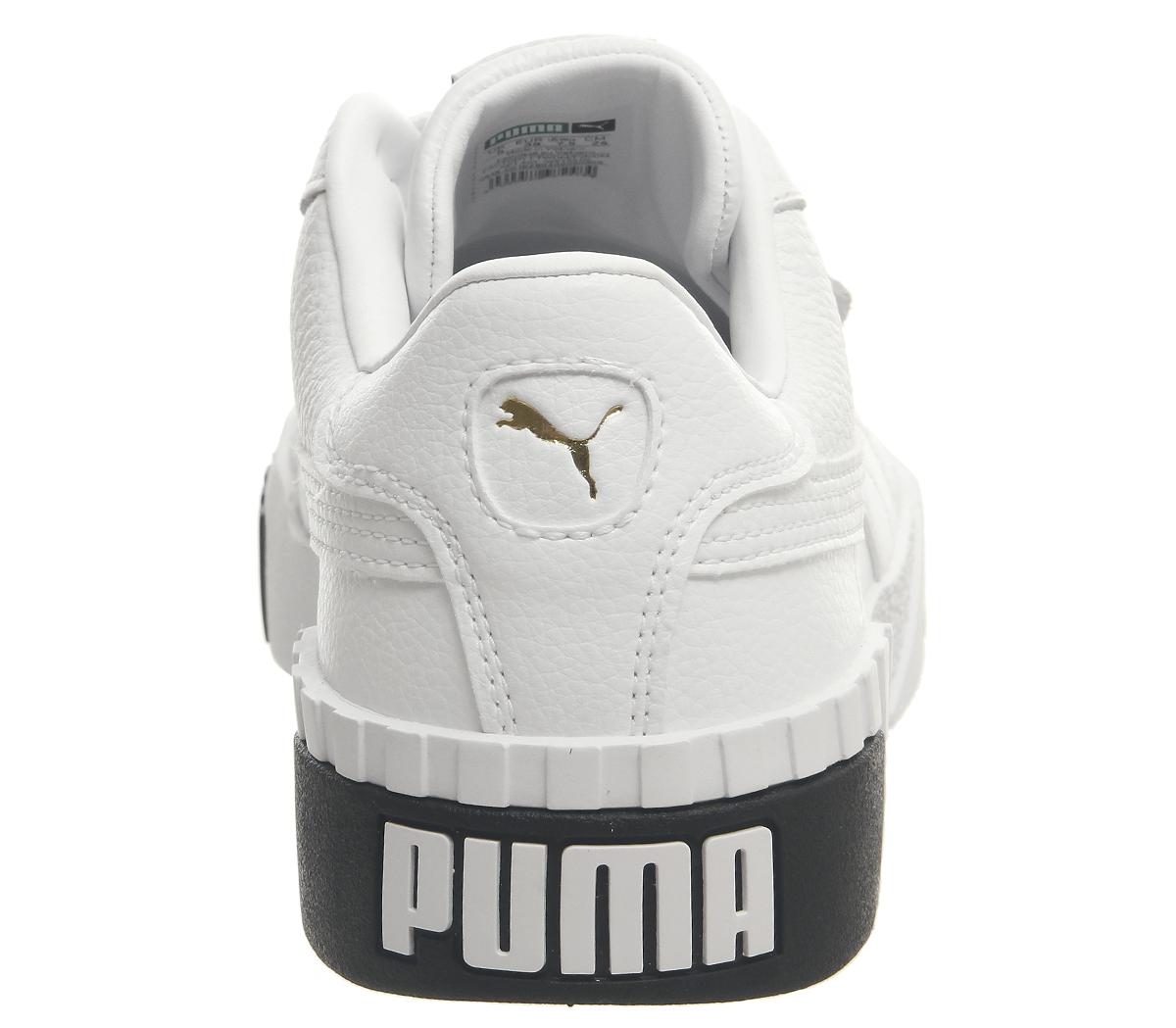Womens Puma Puma Puma Cali Trainers Puma White Black Trainers shoes 3c7654