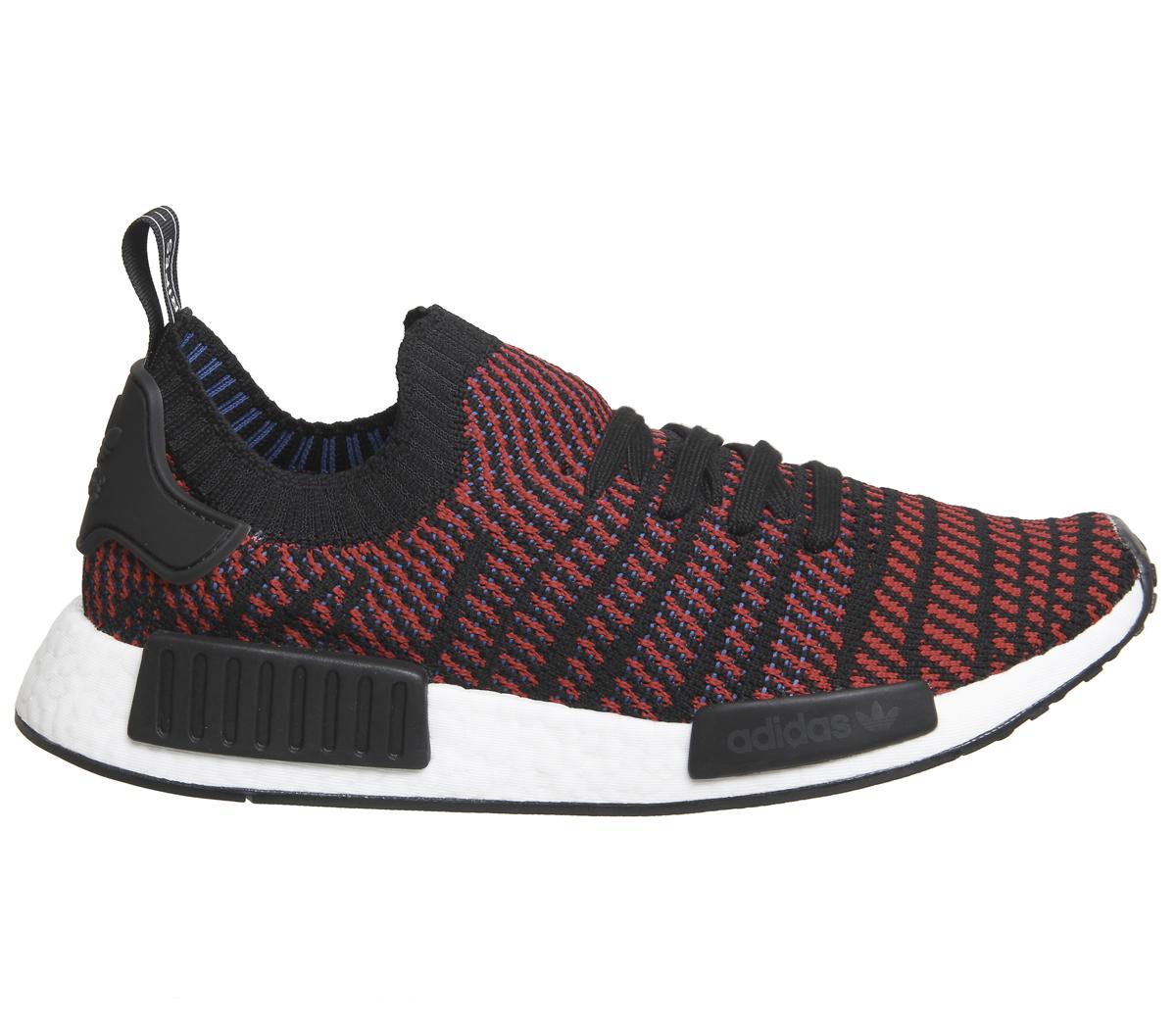 official photos 6ce16 d643b CENTINELA Adidas Nmd R1 primer punto central negro rojo zapatillas zapatos