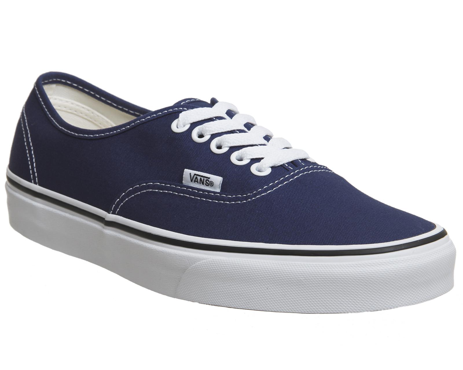 Hombre Vans Authentic Trainers ESTATE Azul TRUE Blanco Blanco TRUE Trainers Zapatos 245fa8