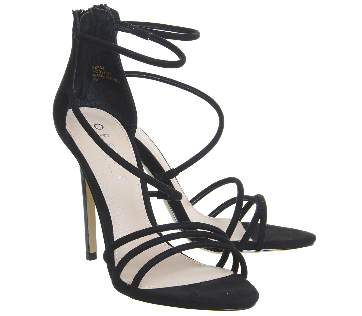 7675e601bef Womens-Office-Harness-Strappy-Sandals-Black-Heels thumbnail 6