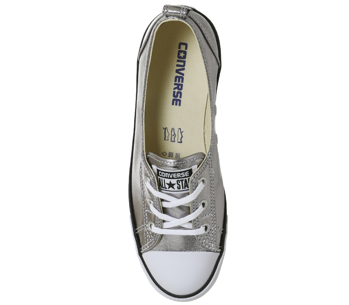 ae07a131aac5 Womens Converse Ctas Ballet Lace SILVER CANVAS EXCLUSIVE Trainers ...
