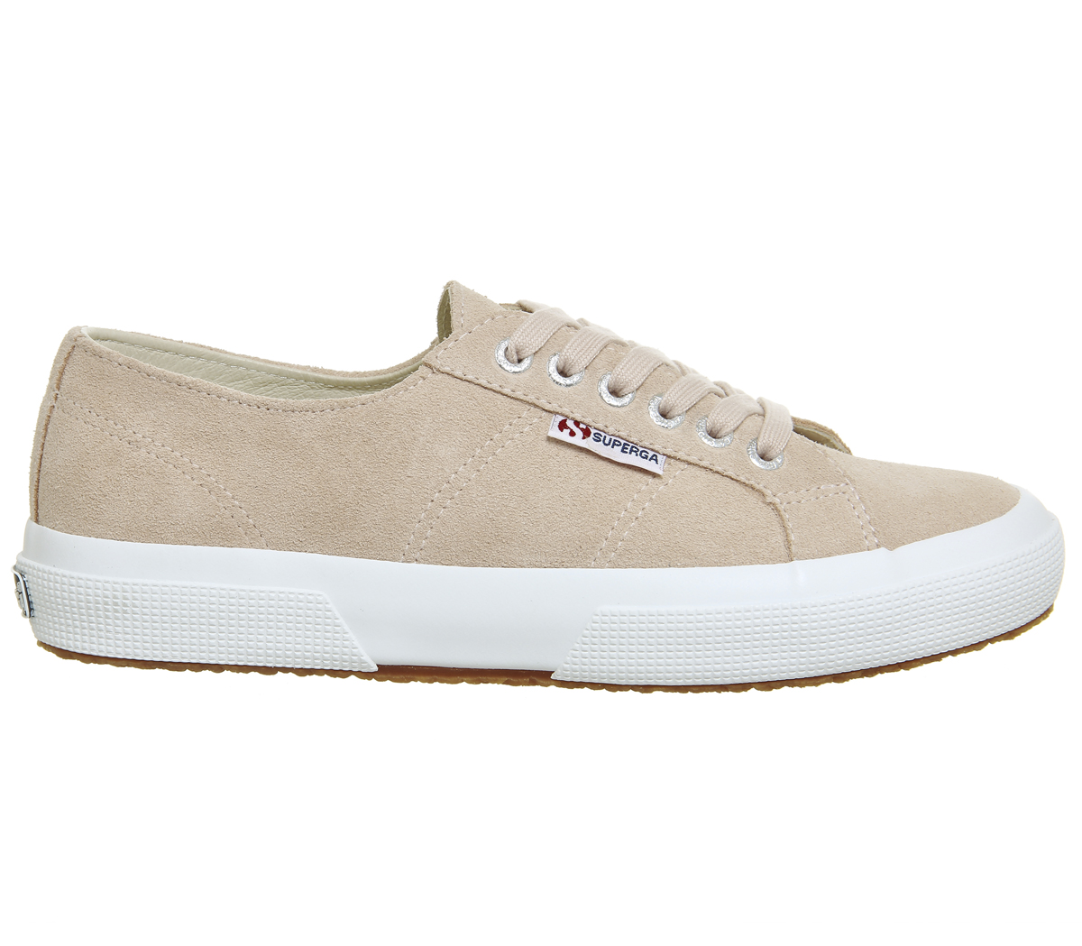 a895eb831b3 Sentinel Womens Superga 2750 Trainers Pink Skin Suede Trainers Shoes