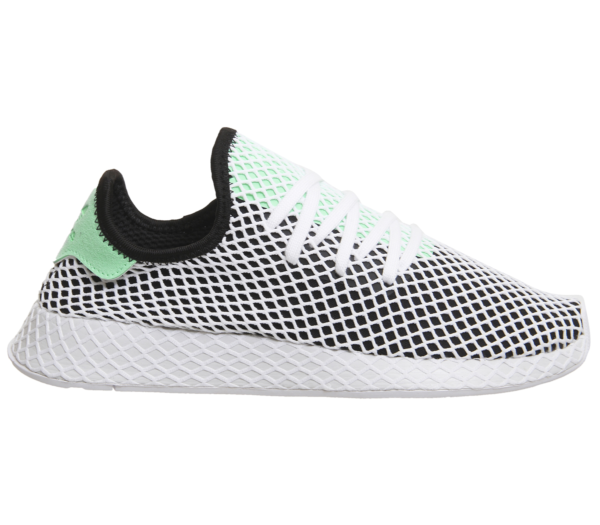 01323b09e3a Mens Adidas Deerupt Trainers CORE BLACK EASY GREEN WHITE Trainers ...