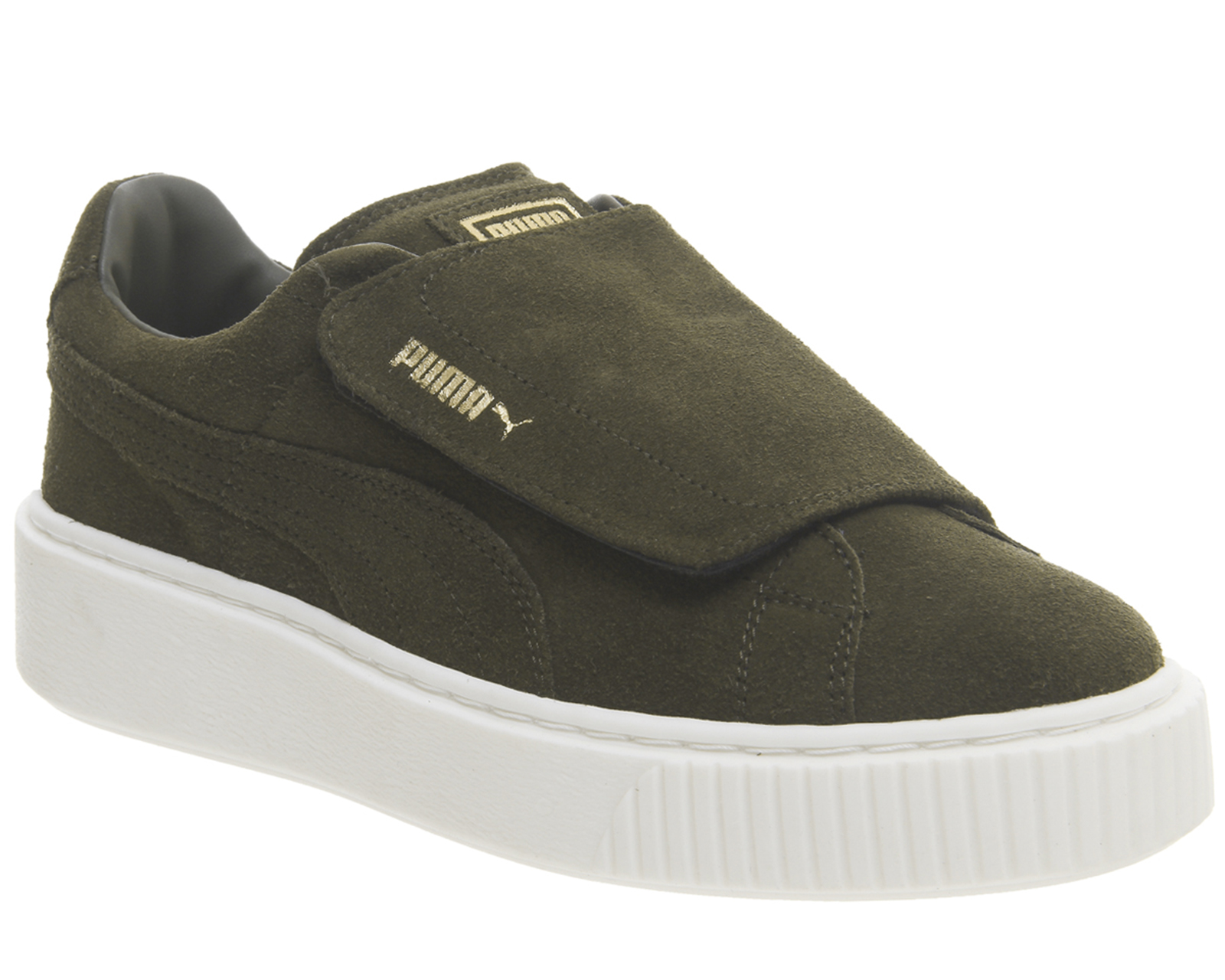 bc971c0d2 Sentinel Womens Puma Suede Platform Trainers OLIVE NIGHT VELVET ROPE  Trainers Shoes