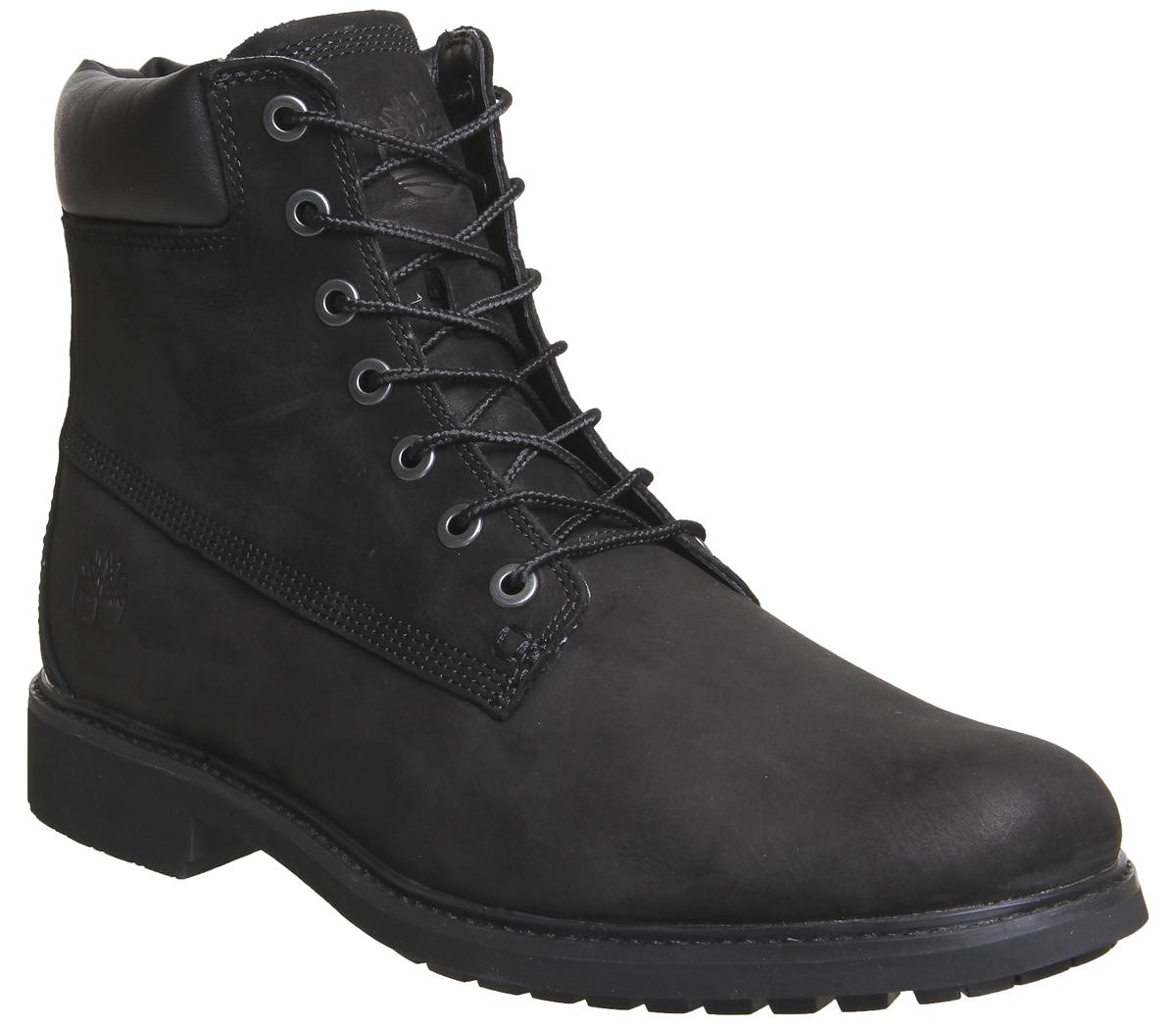 Hombre-TIMBERLAND-Hombre-Entallado-15-2cm-Botas-Negras-NOBUK-Botas