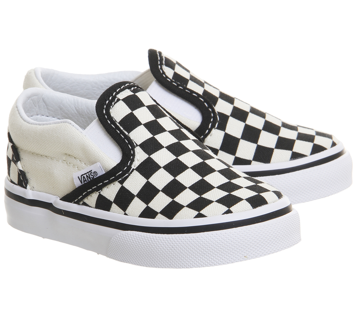 c91375614ee1 Kids Vans Classic Slip On Toddlers Black White Checkboard Kids