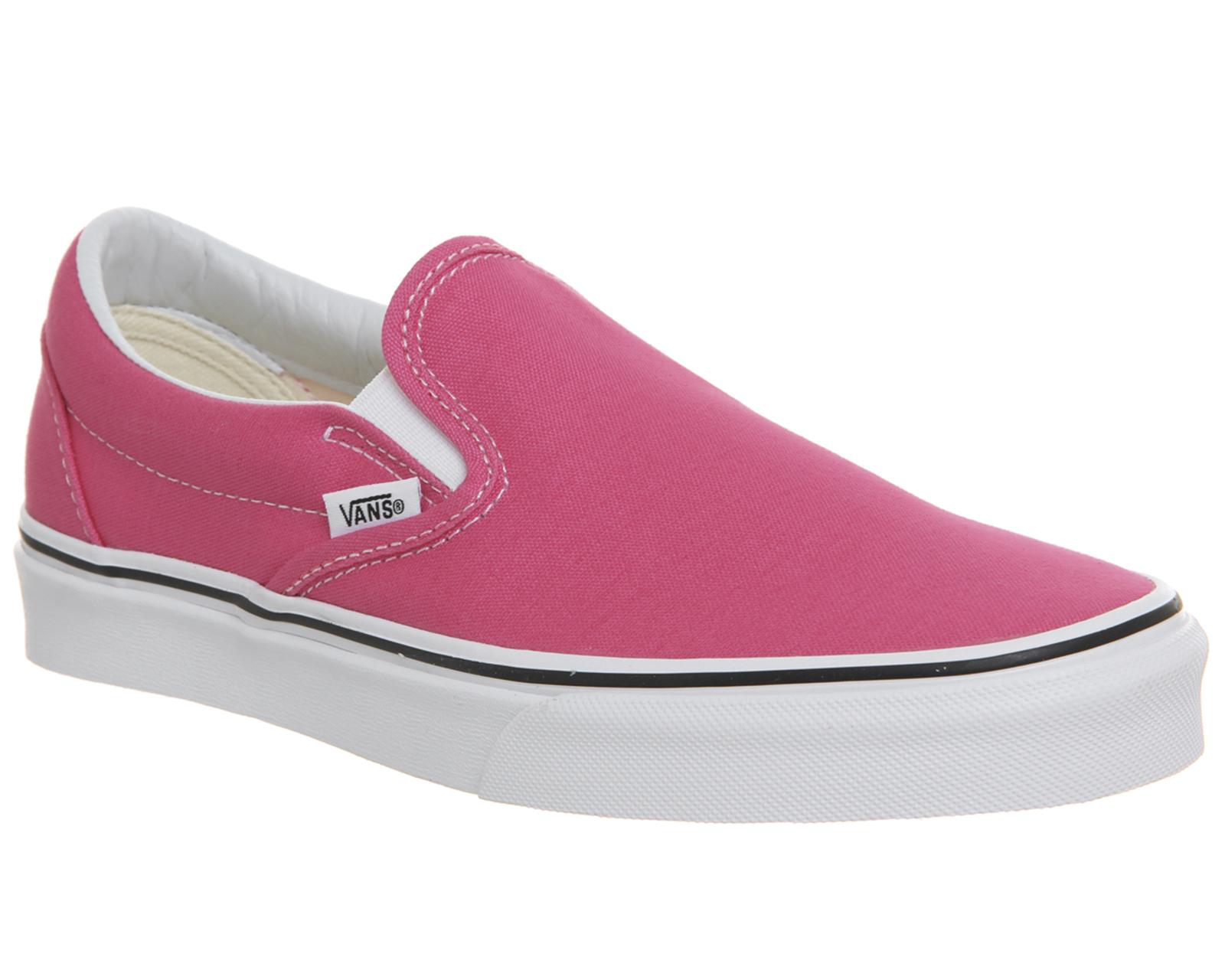 da0079230 Detalles de Para mujer Vans Vans Classic Slip On entrenadores Caliente Rosa  Auténtico Blanco Zapatillas Zapatos- ver título original