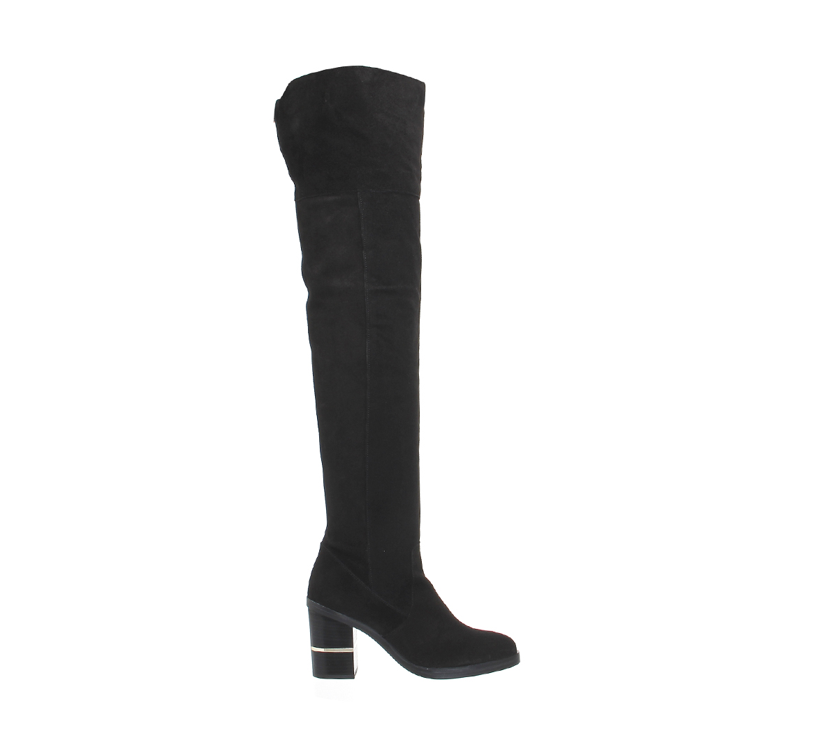 bf5267fe3aa Womens Office Elemental Over The Knee Boots Black Suede Boots