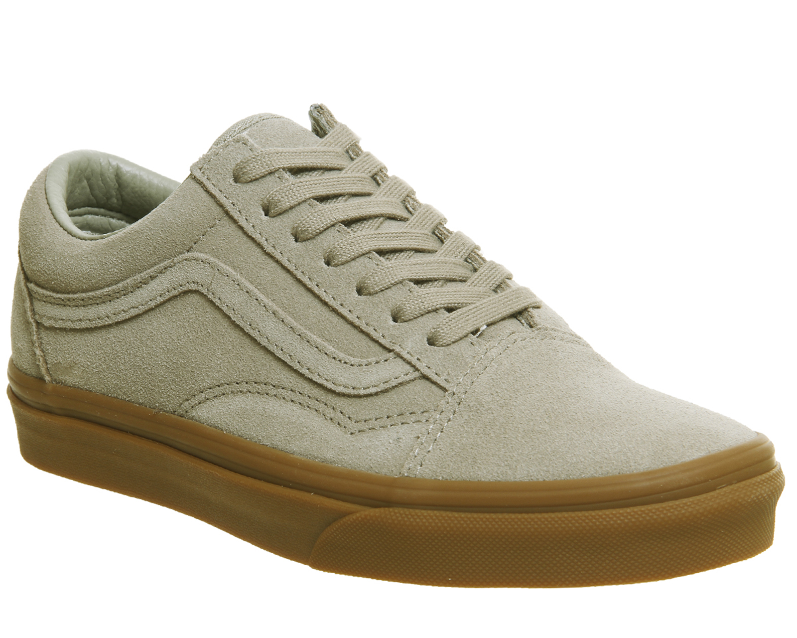 d2cc10e14cf Sentinel Mens Vans Old Skool Trainers Light Khaki Gum Exclusive Trainers  Shoes