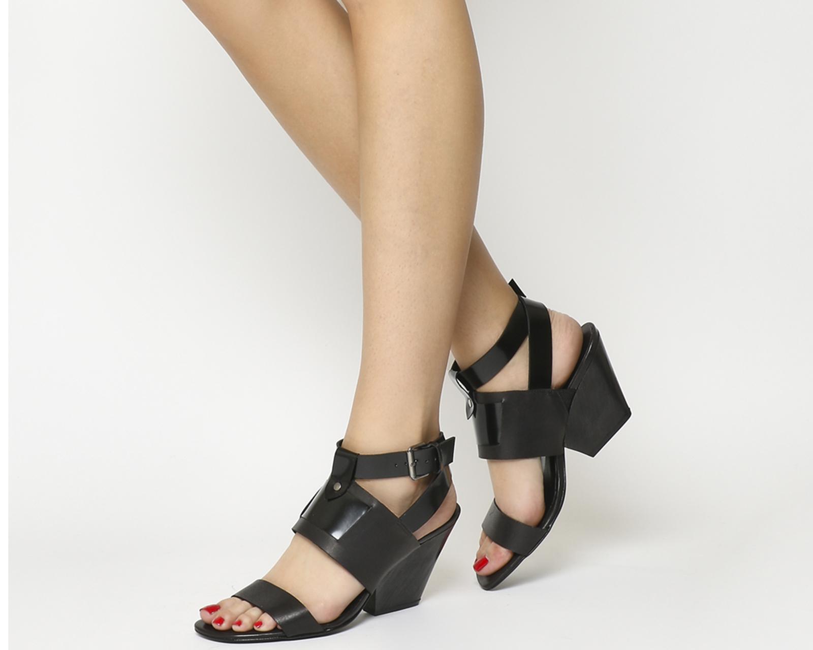 Dettagli Su Da Donna Poste Mistress Shoes Sandali Tacco A Blocco In Legno Di Pelle Nera Tacco Sandali Mostra Il Titolo Originale