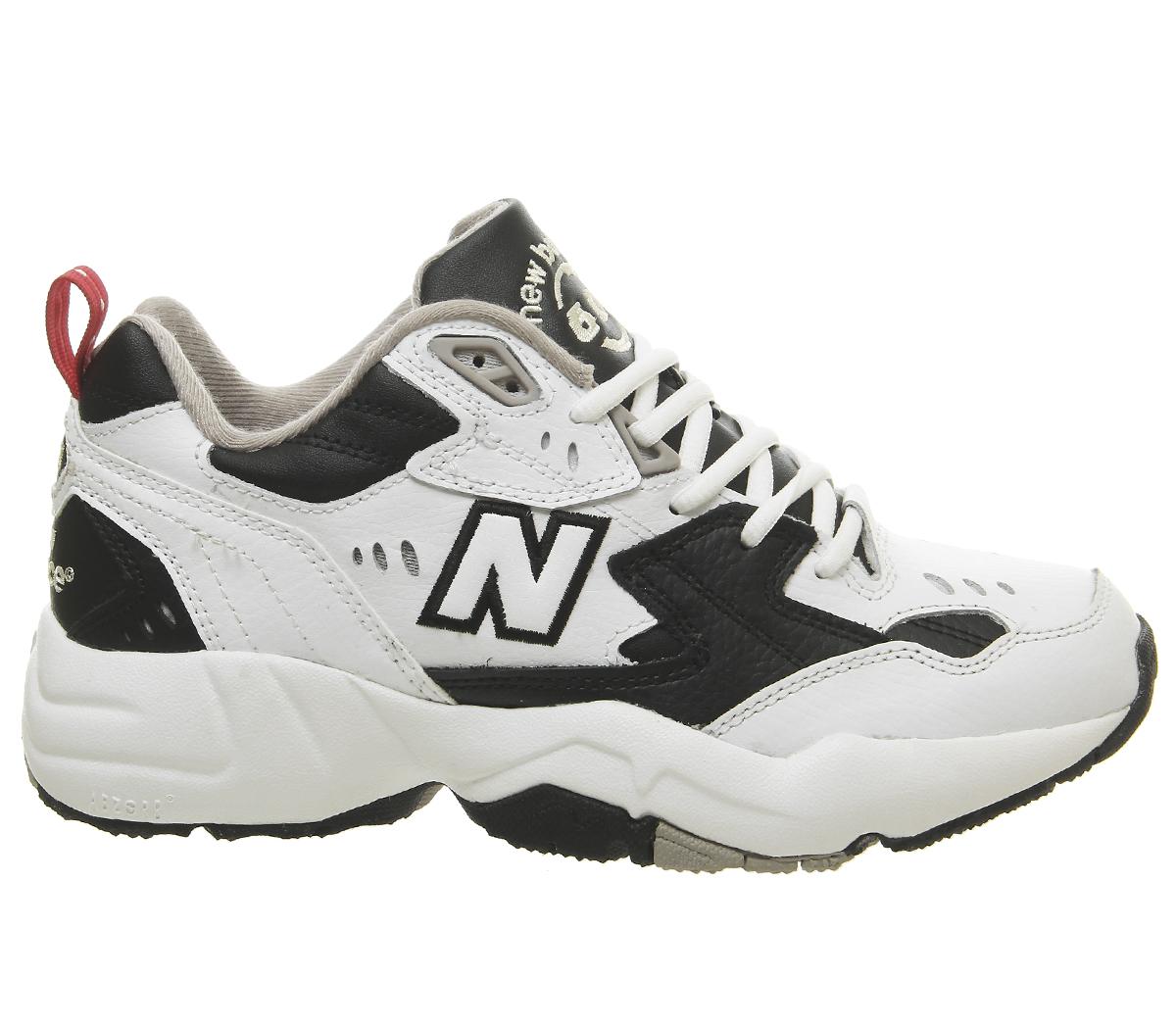 3058fa1ee487e SENTINEL Womens nuovo equilibrio 608 formatori formatori nero scarpe bianco