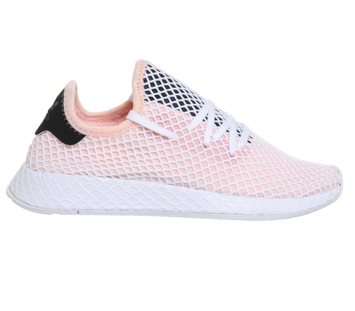 de4432f130b Sentinel Mens Adidas Deerupt Trainers Pink White Core Black Trainers Shoes