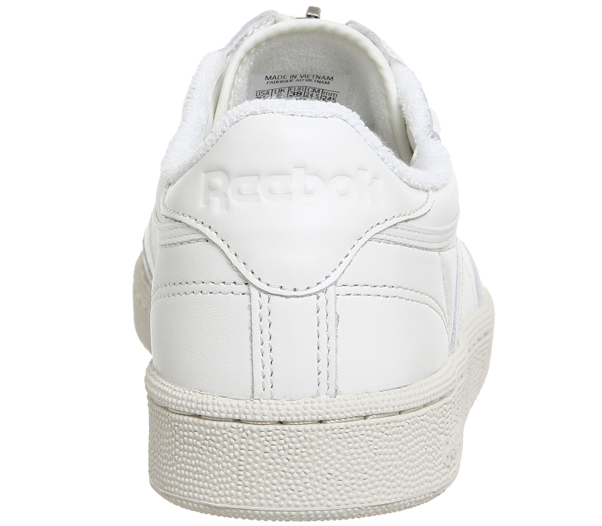 40eca6fce49 Womens Reebok Club C 85 Zip Chalk Sandstone Trainers Shoes