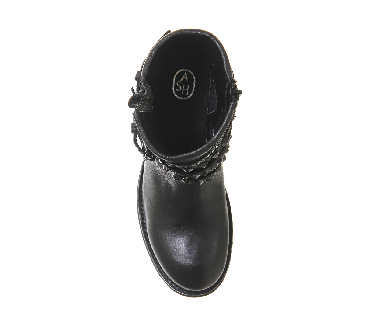 Womens Ash Tatum Biker LEATHER Boots BLACK NAPPA DESTROYER LEATHER Biker Boots 1948ca