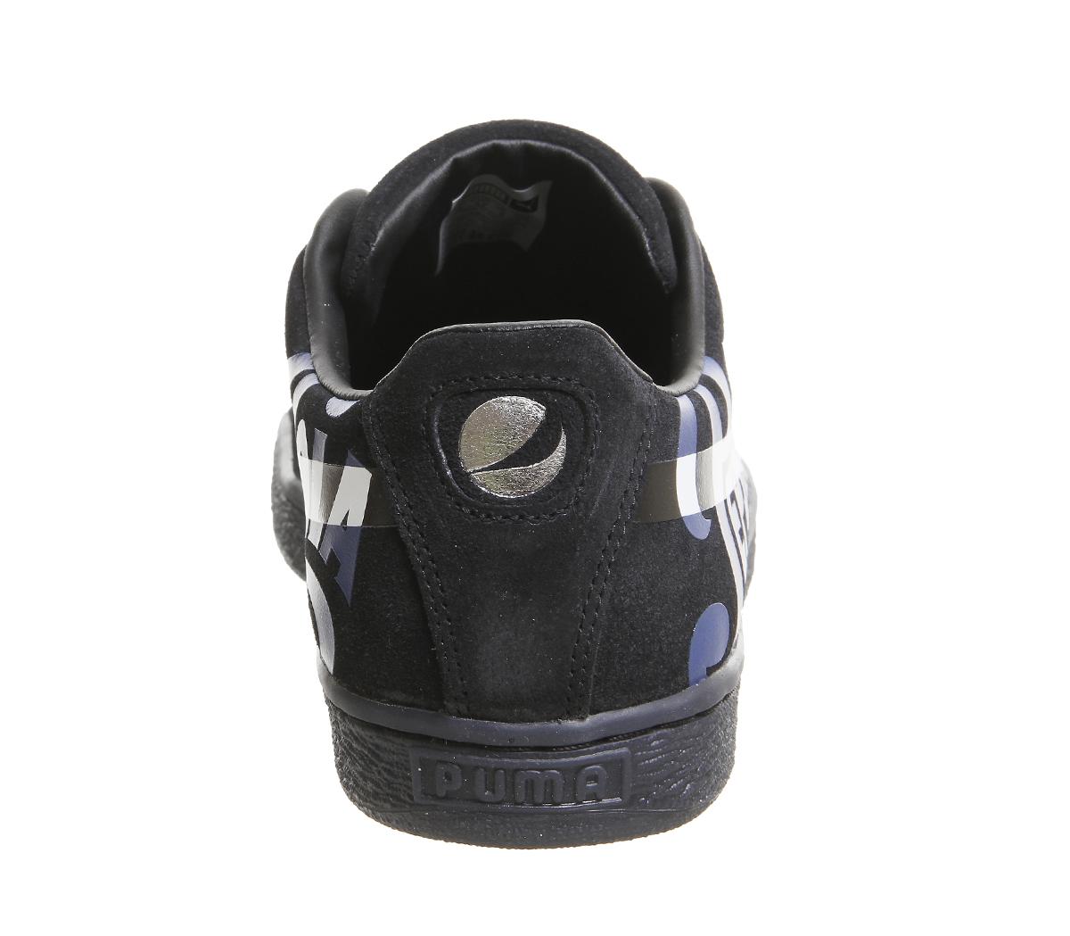 31efd4a4c690f SENTINEL Uomo Puma Suede Classic formatori PEPSI PORT ROYAL allenatori d argento  scarpe