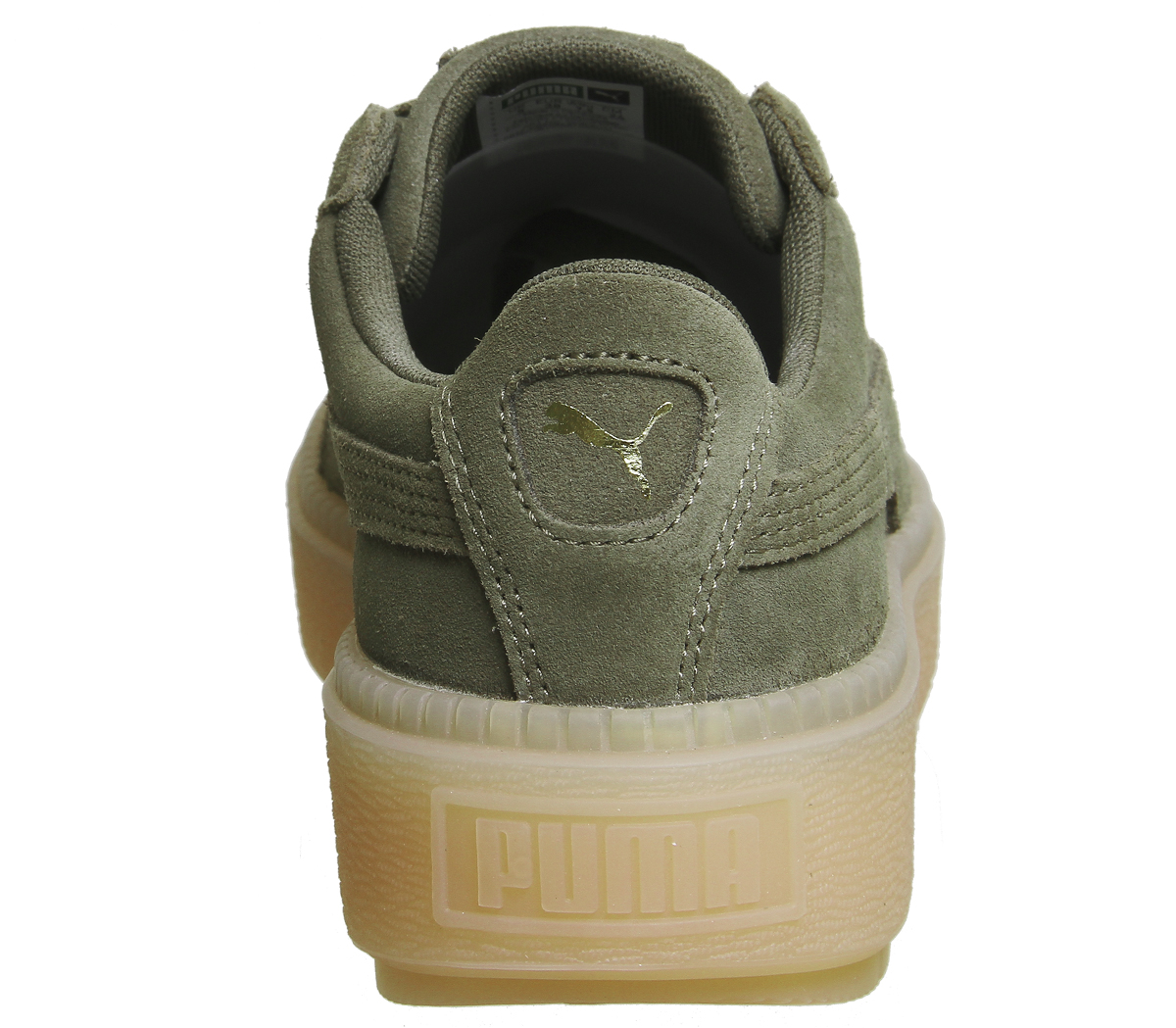 Sentinel Womens Puma Suede Platform Trace Trainers OLIVE NIGHT VELVET ROPE  Trainers Shoes fe008ca7f