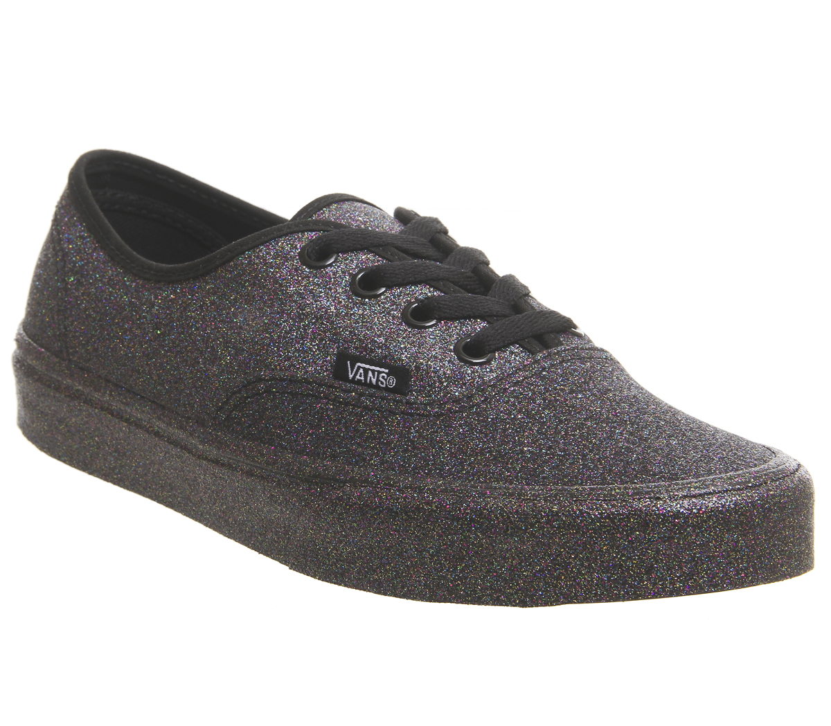 fe7229cd9ed0 Sentinel Womens Vans Authentic Trainers Black Black Rainbow Glitter  Trainers Shoes