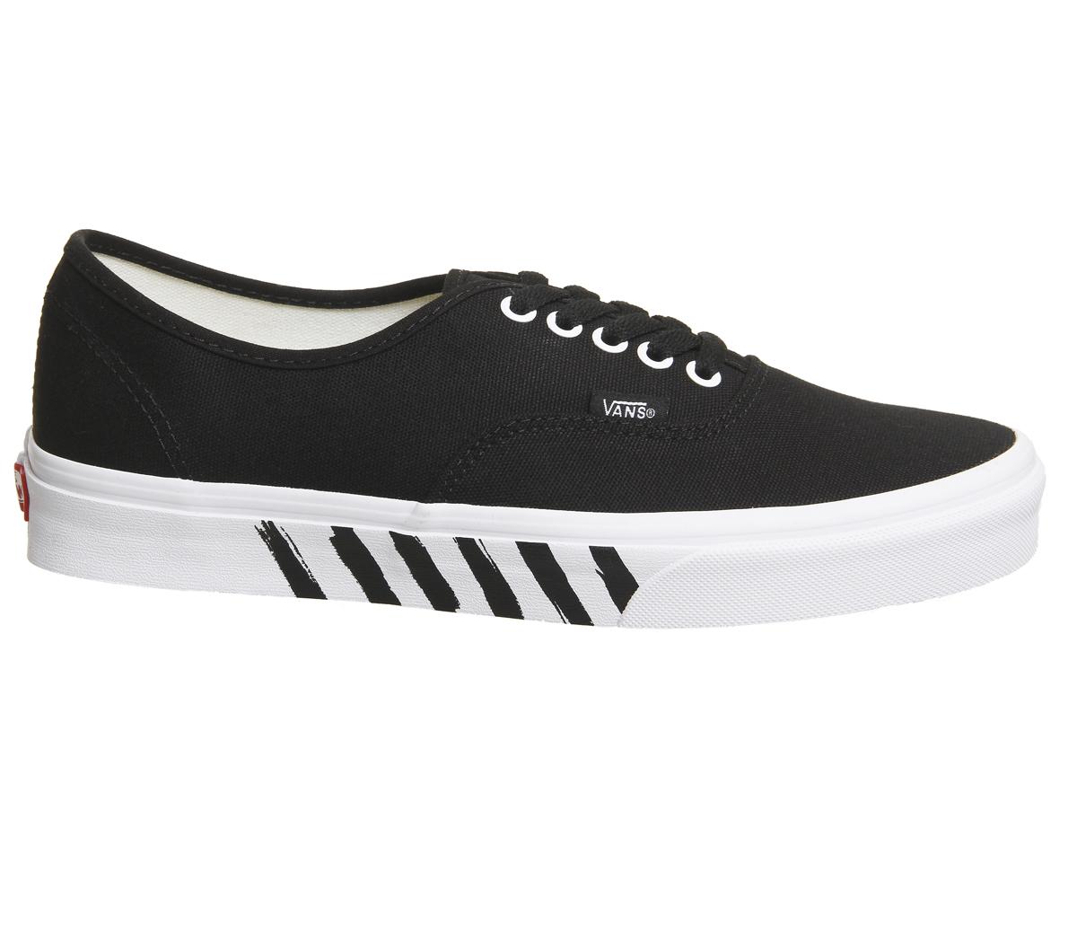 416574b393 Sentinel Mens Vans Authentic Trainers Black True White Stripe Trainers Shoes