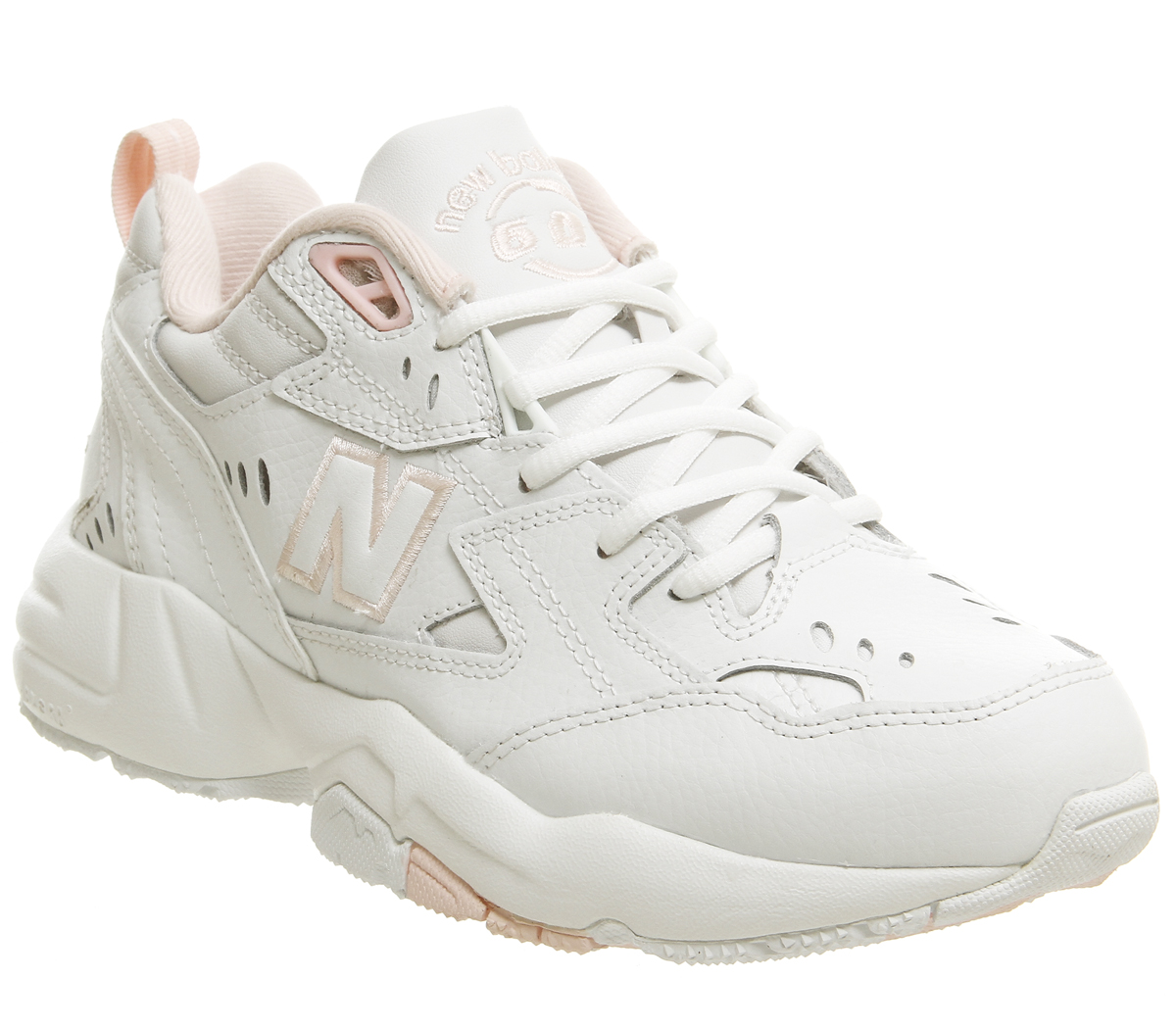 Sentinel Womens New Balance 608 Trainers Cream Pink Trainers Shoes a0cbda32567