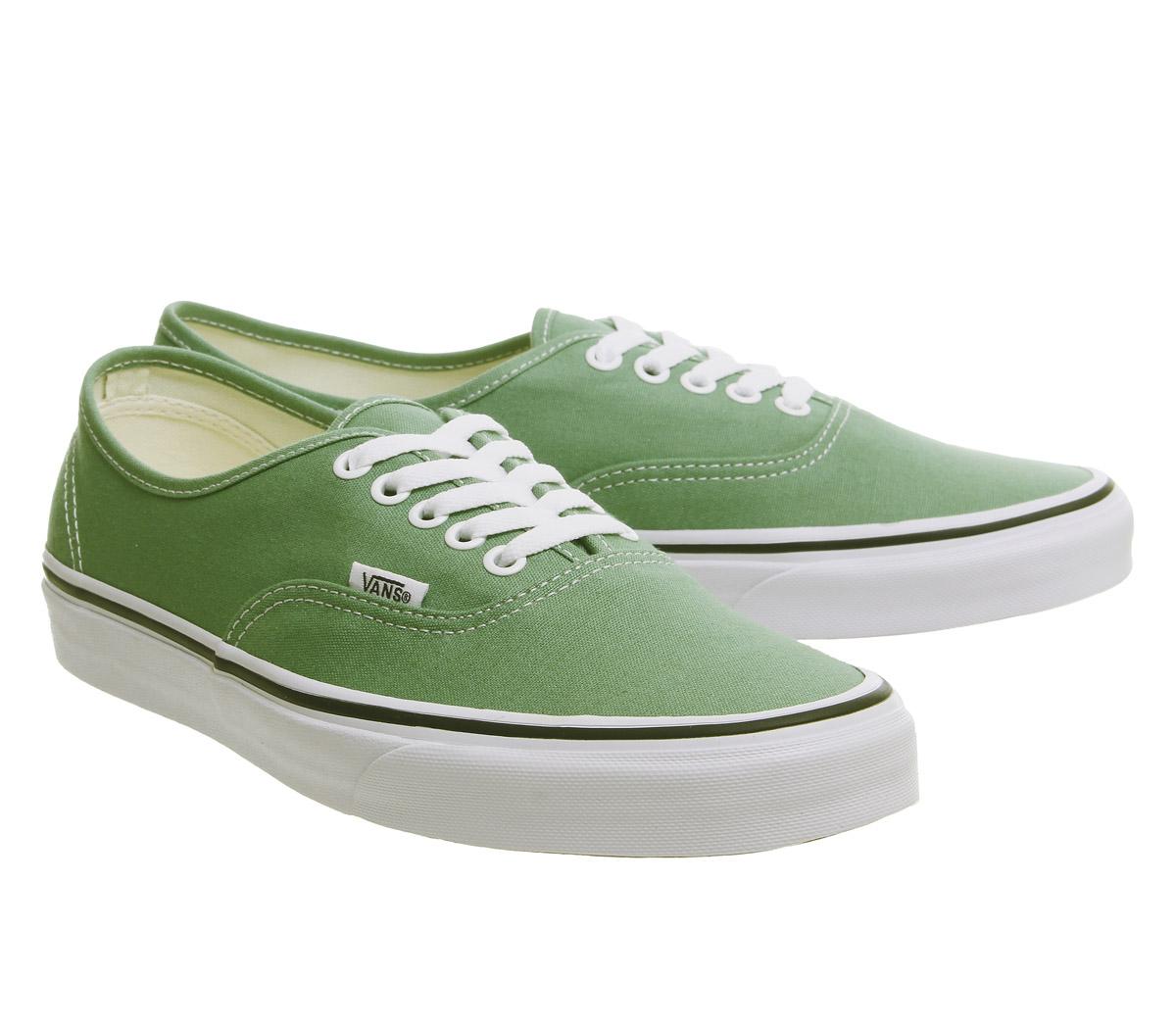 de4700372bc90d Sentinel Mens Vans Authentic Trainers Deep Grass Green True White Trainers  Shoes