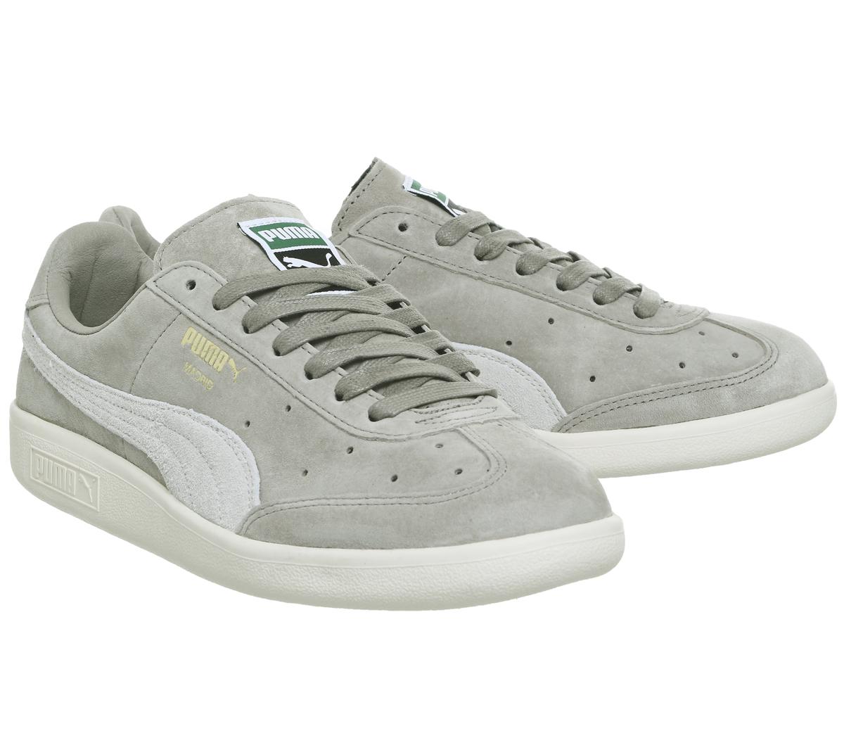 Mens Puma Madrid Trainers VINTAGE KHAKI WHISPER WHITE Trainers Shoes ... dbac36cce