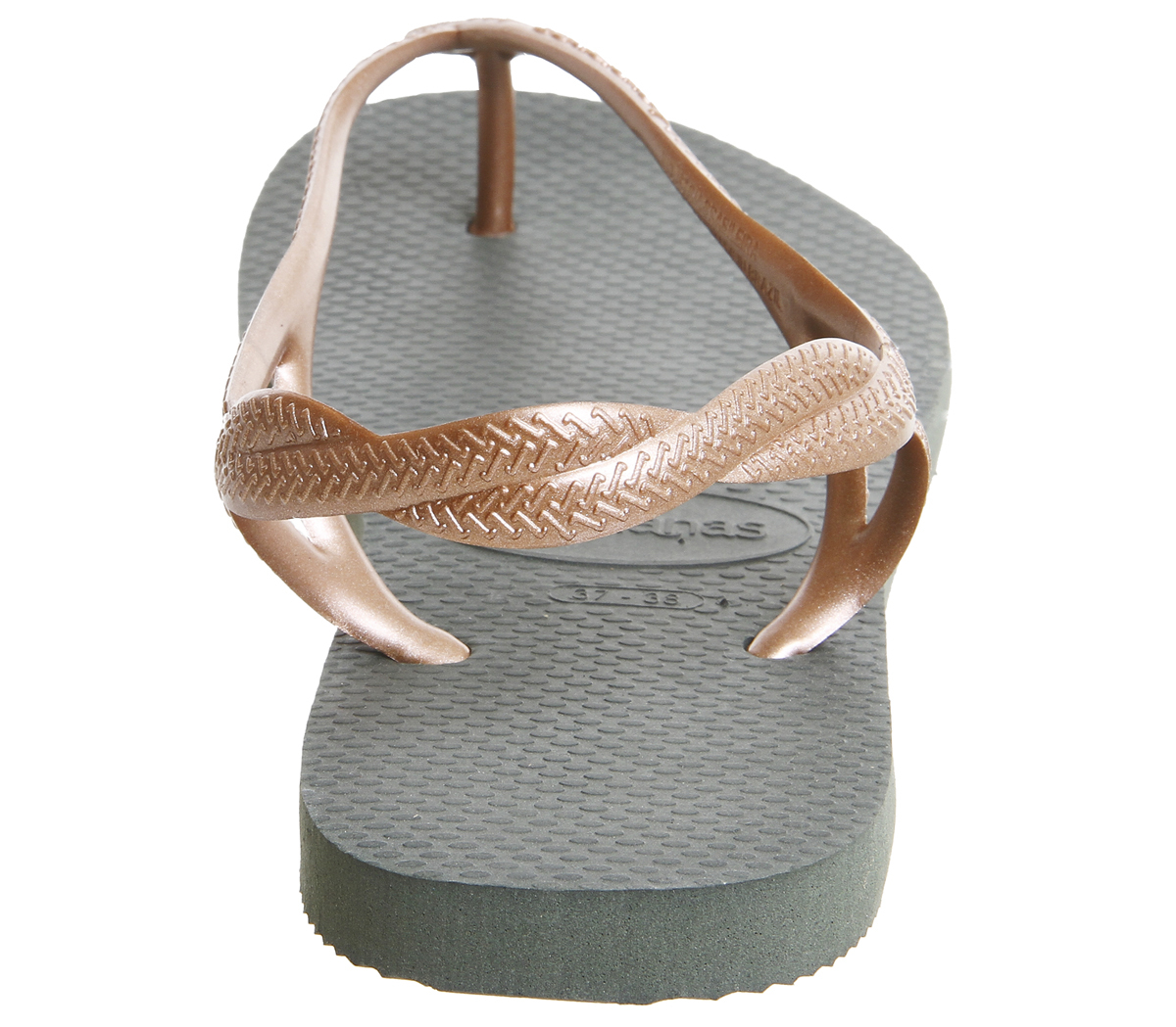 bdb9eaa9446a Womens-Havaianas-Luna-Sandals-Olive-Rose-Gold-Sandals thumbnail