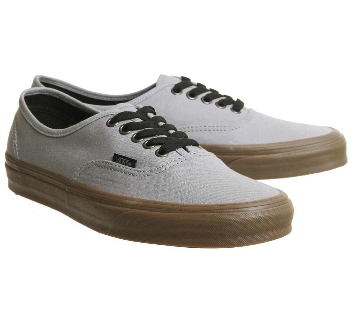 cd7eab55da Mens Vans Authentic Trainers Alloy Black Gum Trainers Shoes