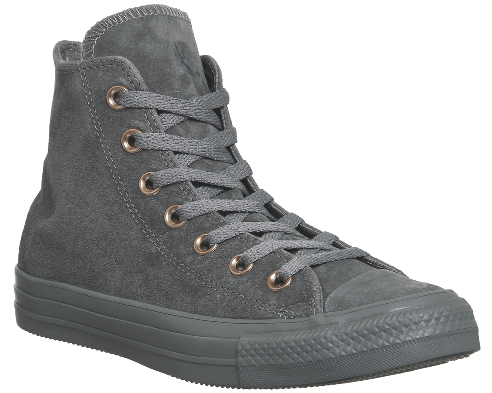 Sentinel Womens Converse All Star Hi Leather MASON GREY STUD EXCLUSIVE  Trainers Shoes 95e53f1c4f6