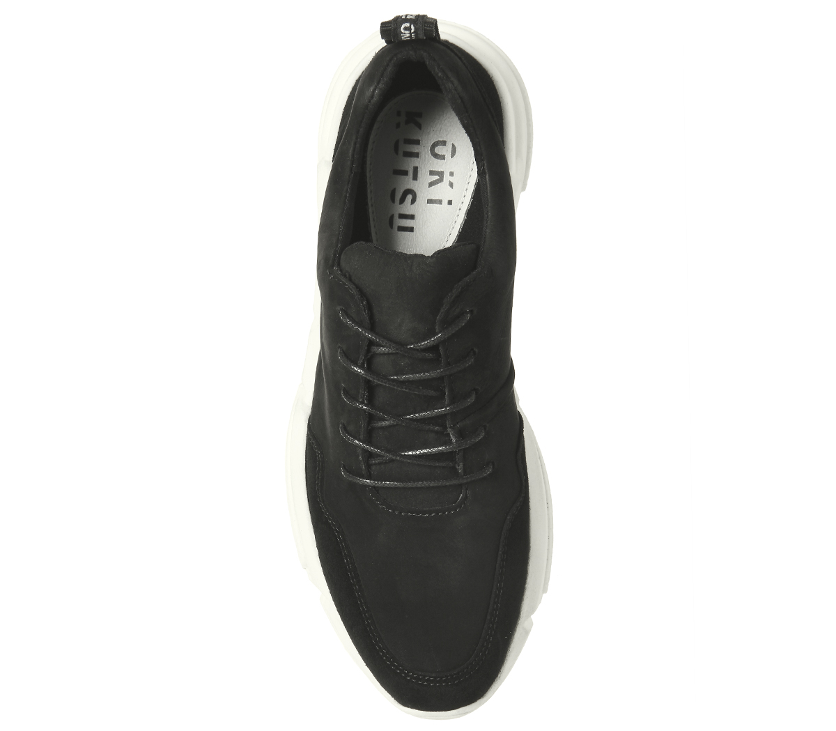 Damenschuhe Oki Kutsu Keiko Lace Up Runners BLACK NUBUCK NUBUCK BLACK Trainers Schuhes b5229d