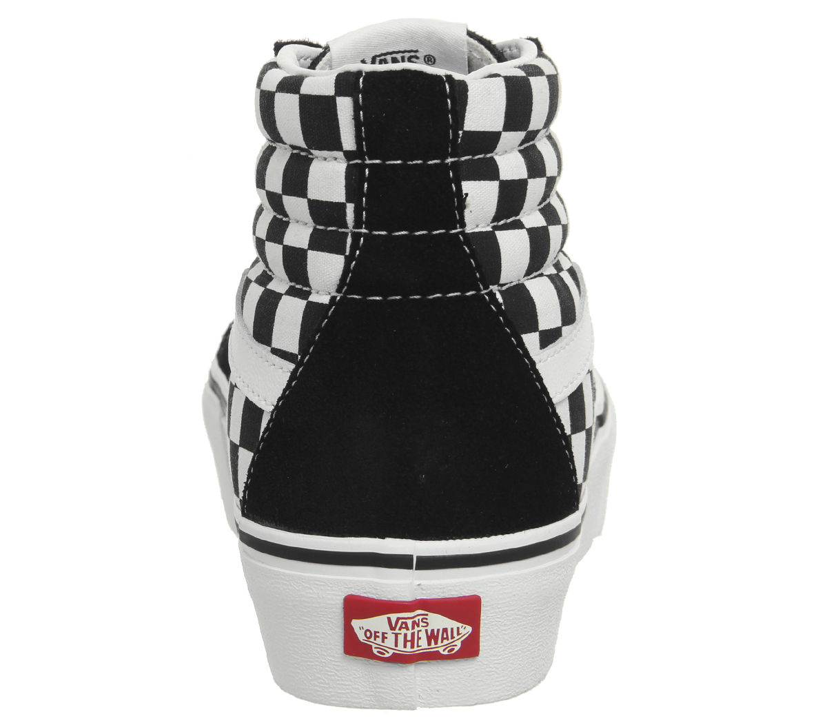Womens Vans Sk8 Hi Platform 2.0 Trainers BLBCK WHITE CHECKERBOBRD Trainers Shoes