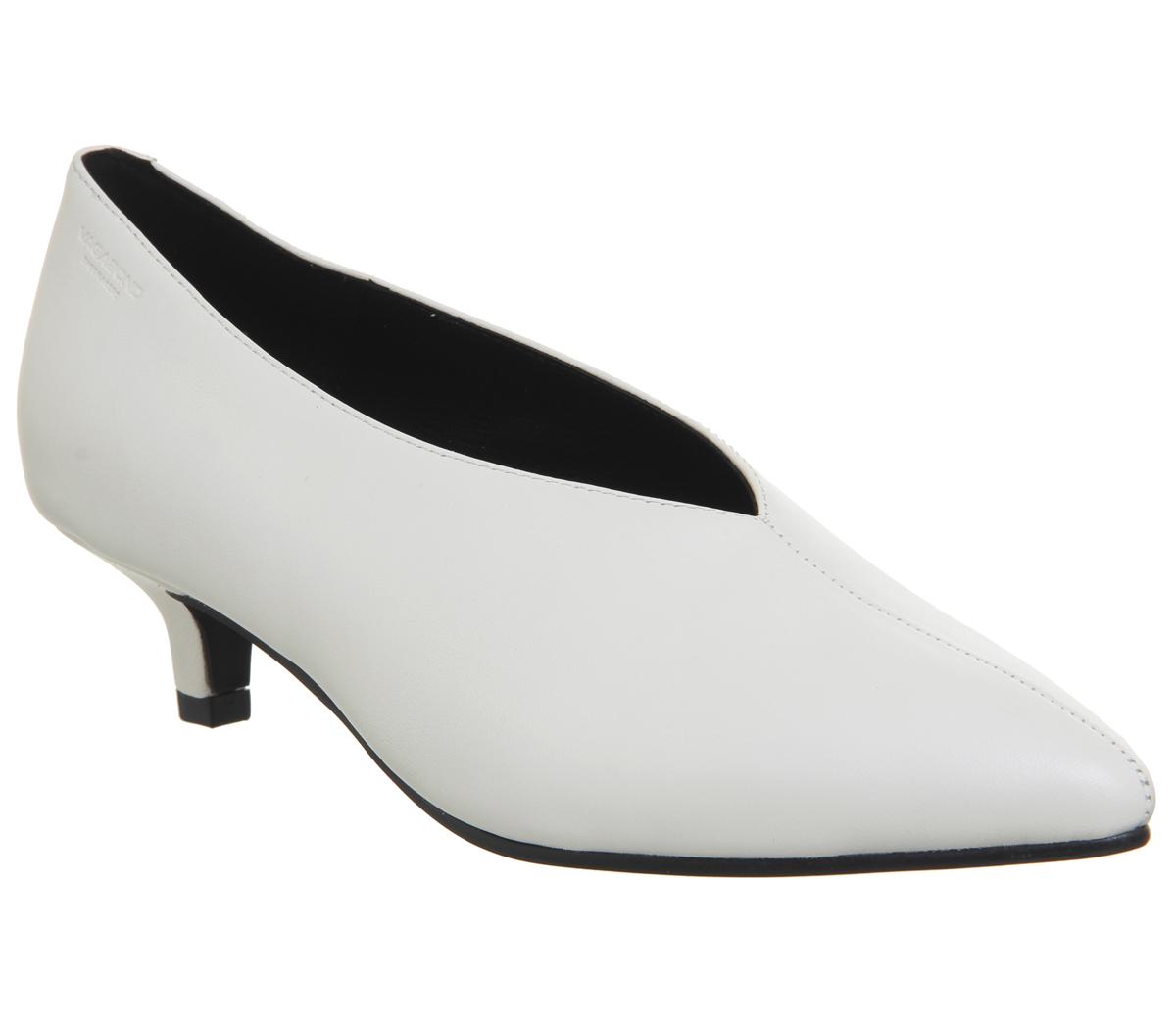 Womens Womens Womens Vagabond Minna Low Heels White Leather Heels 4efd12