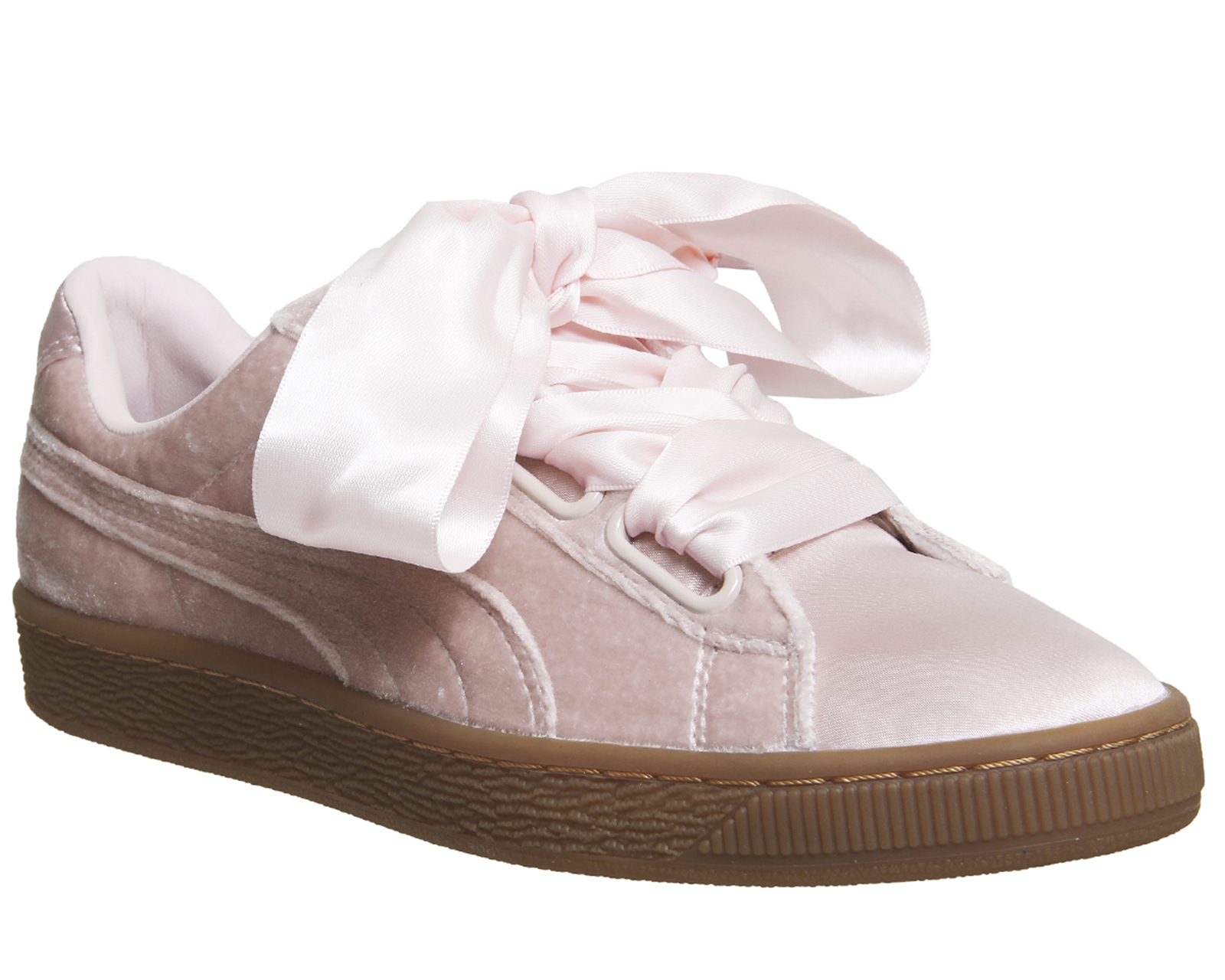 50852111d24 Sentinel Womens Puma Basket Heart Trainers Silver Pink Gum Trainers Shoes