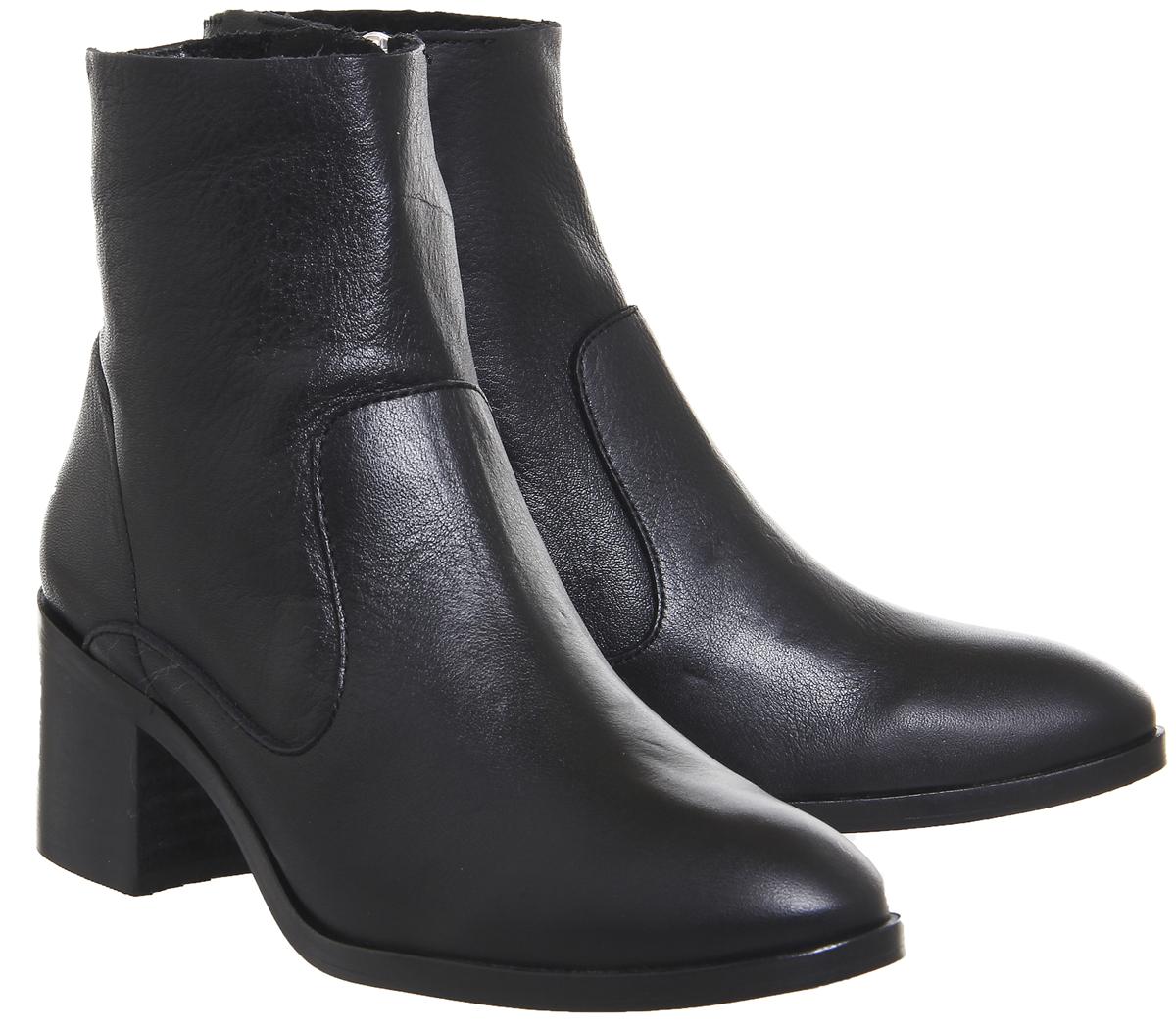 Da Donna Ufficio Albury con Tacco Tacco Tacco a Blocco Stivali neri in pelle   modello di moda    Uomini/Donne Scarpa  47a21c