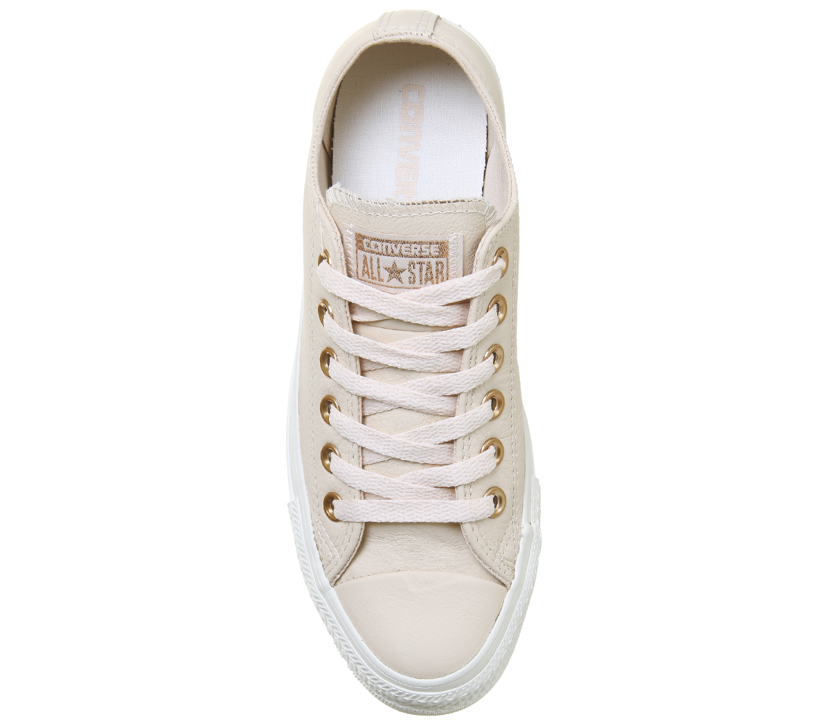 13e41abf6a Sentinel Womens Converse All Star Low Leather EGRET PASTEL ROSE TAN BLUSH  GOLD EXCLUSIVE