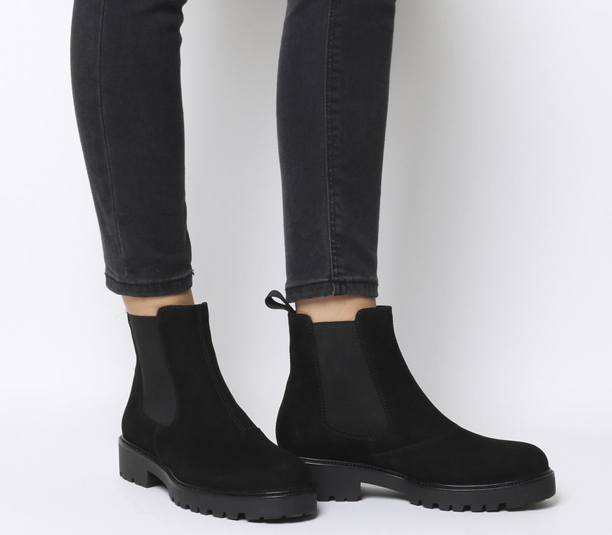 best sneakers 969cd 57da7 Details about Womens Vagabond Kenova Chelsea Boots Black Nubuck Boots