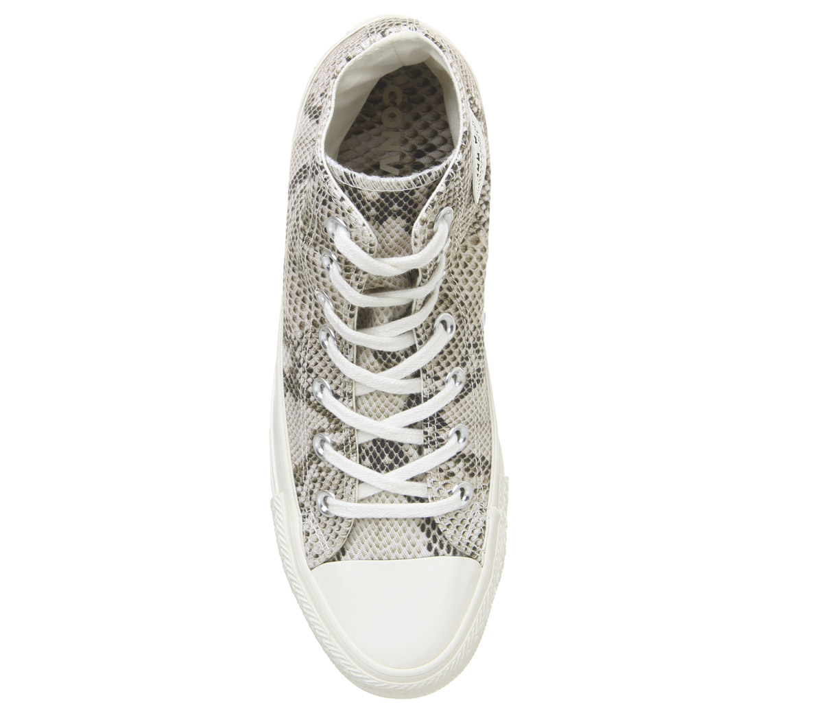 Womens-Converse-Converse-All-Star-Hi-Trainers-Egret-Black-Snake-Trainers-Shoes thumbnail 4