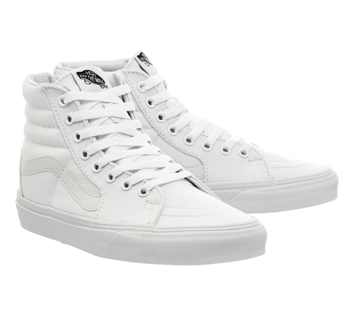 fa885f7892d Sentinel Womens Vans Sk8 Hi True White Trainers Shoes