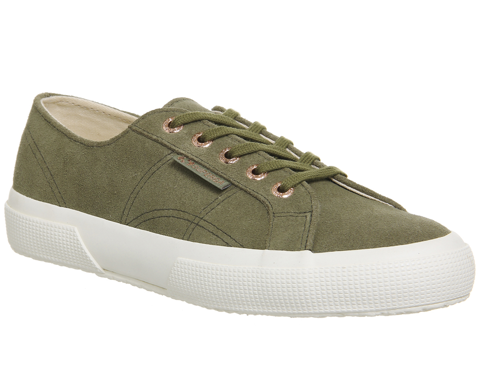 2018 2017 Superga Womens 2750 Trainers Aloe Green Suede Exclusive Shoes Size 10 US 10 8 7