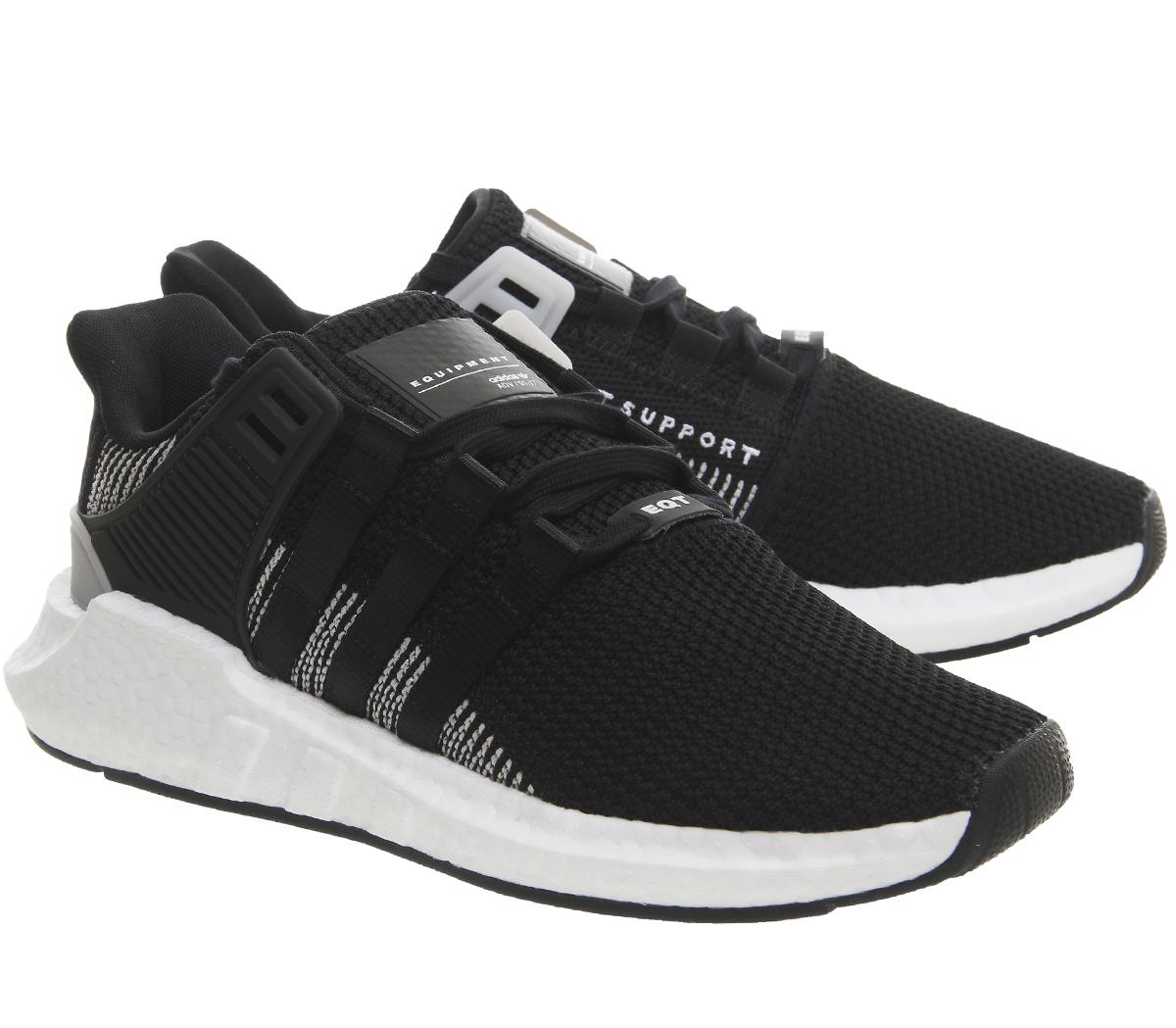 sports shoes 8dcad d073f SENTINELLE Adidas Eqt Support 93 17 CORE formateurs blanc noir chaussures