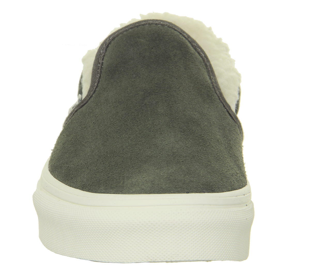dff1bb29195 Sentinel Womens Vans Vans Classic Slip On Trainers Grape Leaf Dusty Olive  Sherpa Trainers