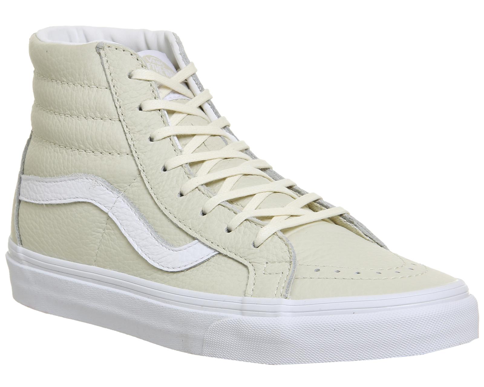 22a9b995e2d Sentinel Womens Vans Sk8 Hi Reissue Turteldove White Trainers Shoes