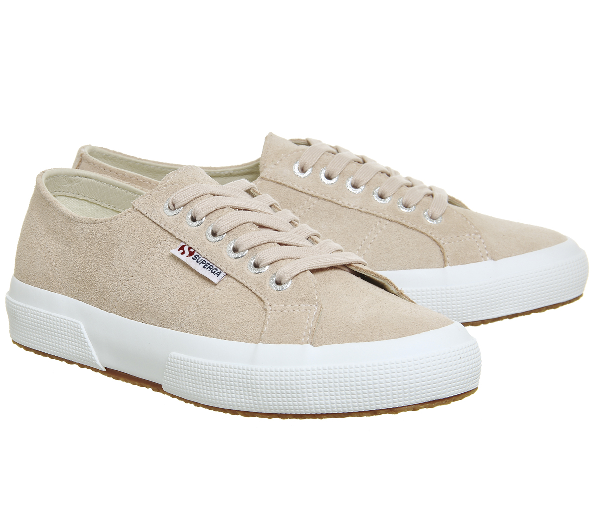 b86654a605e Womens Superga 2750 Trainers Pink Skin Suede Trainers Shoes