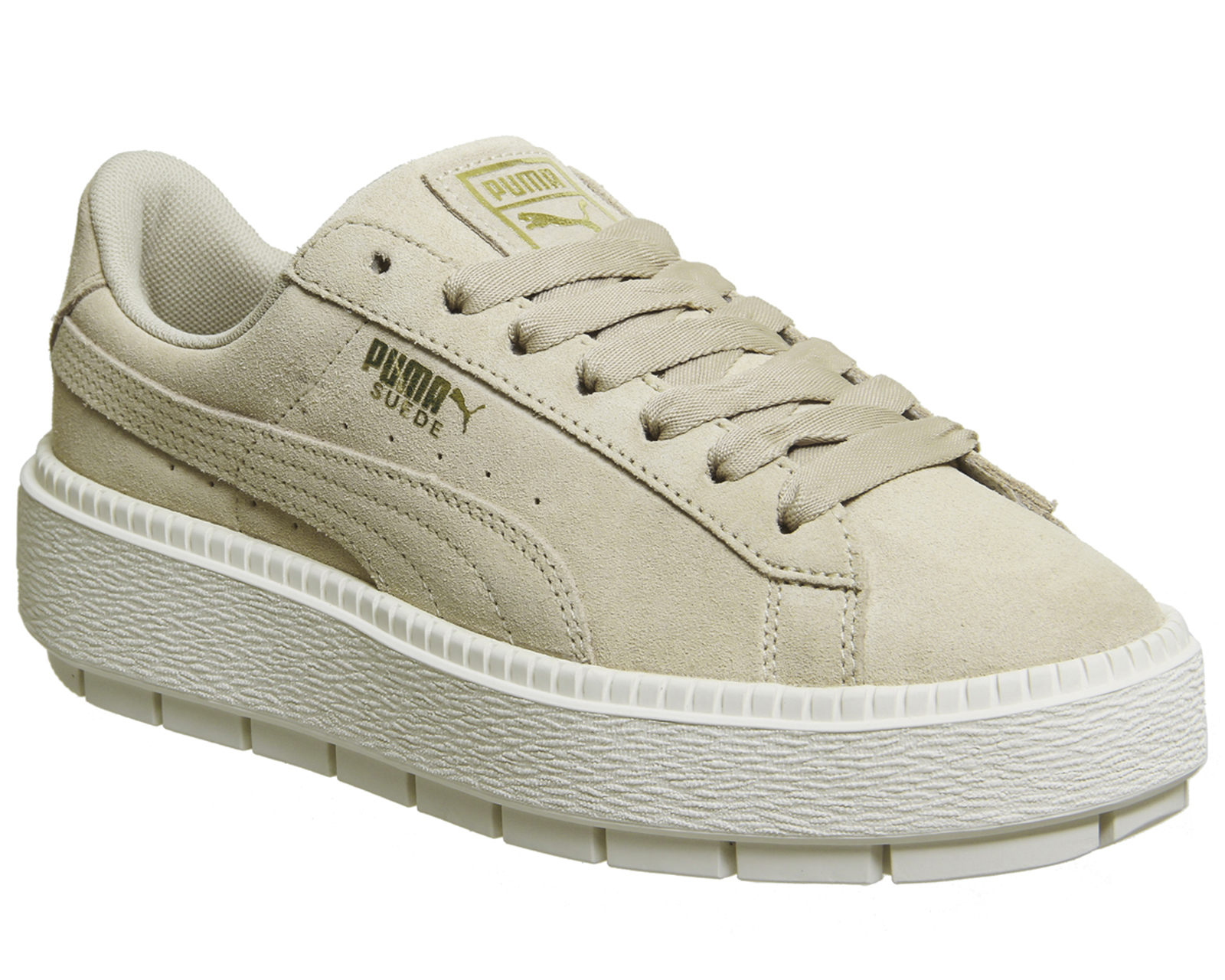 992ba9a1d Sentinel Womens Puma Suede Platform Trace Trainers SAFARI MARSHMALLOW  Trainers Shoes
