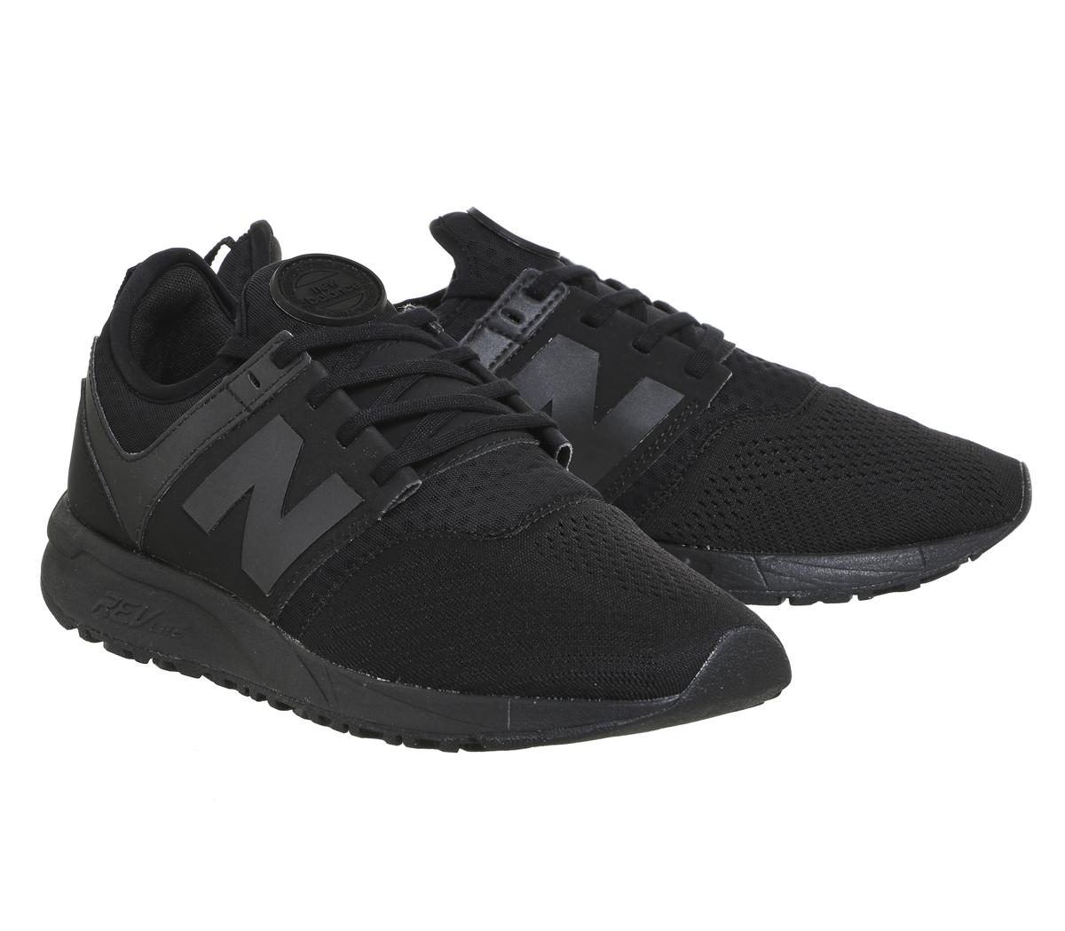 b4fa227a9495 Sentinel Womens New Balance 247 Trainers Black Mono Sport Trainers Shoes