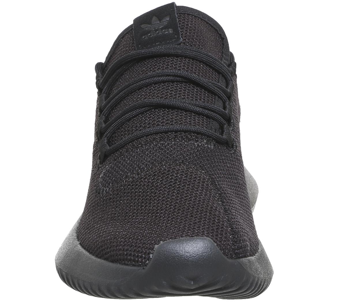 f1e50158c00 Adidas Tubular Shadow BLACK MONO Trainers Shoes