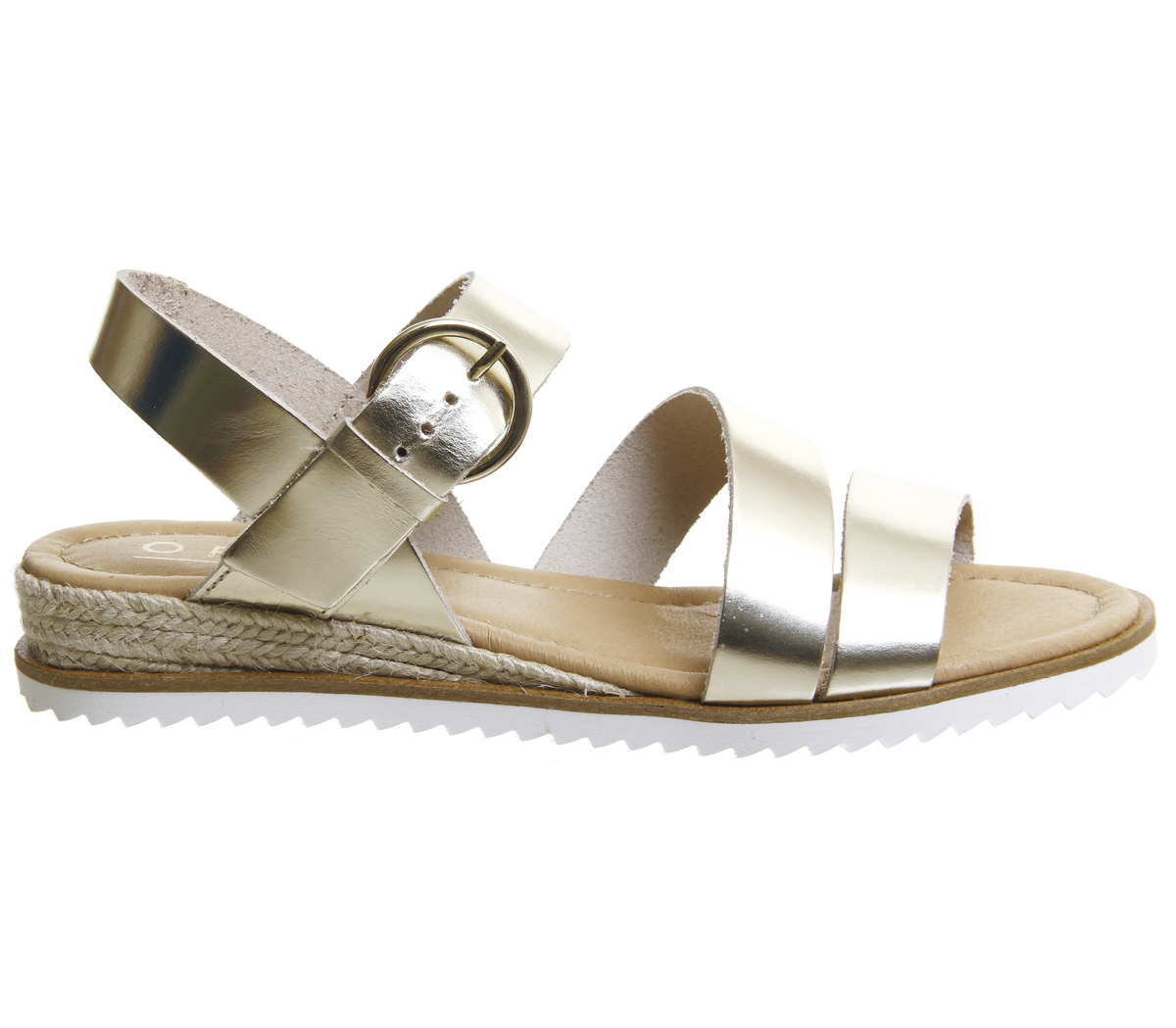 Leather Womens Strap Office Ankle Gold Sandals Saltlake fYYPqwBxZ