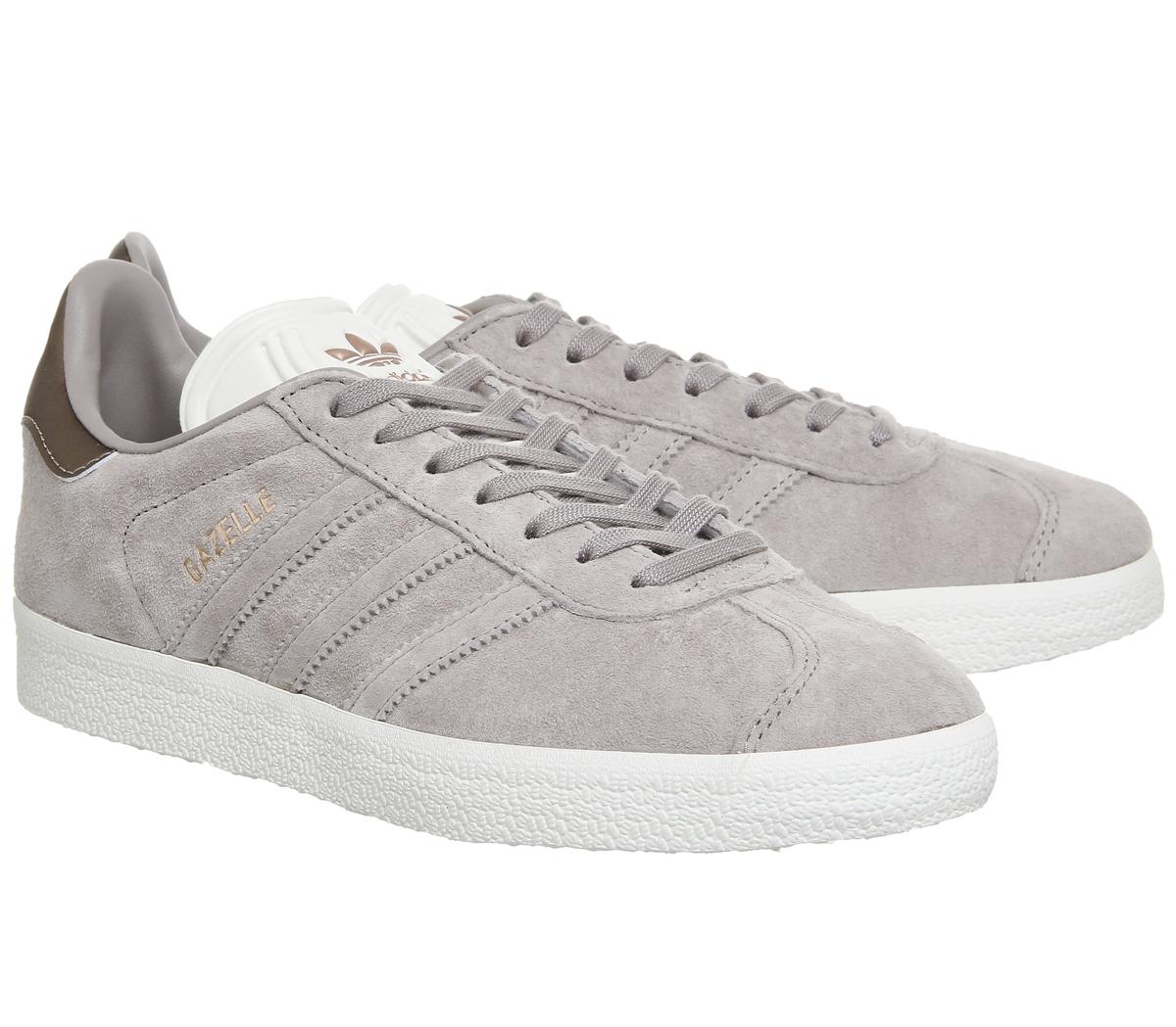 Damenschuhe Adidas Gazelle Grau Trainers Vapour Grau Gazelle Off Wei  Copper Exclusive Trainers S bc3ca9
