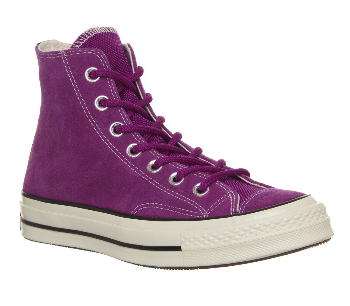 6e08f2d83e7 Détails sur Homme Converse All Star Hi années 70 Baskets Icône Violet Noir  Egret Baskets Chaussures- afficher le titre d origine
