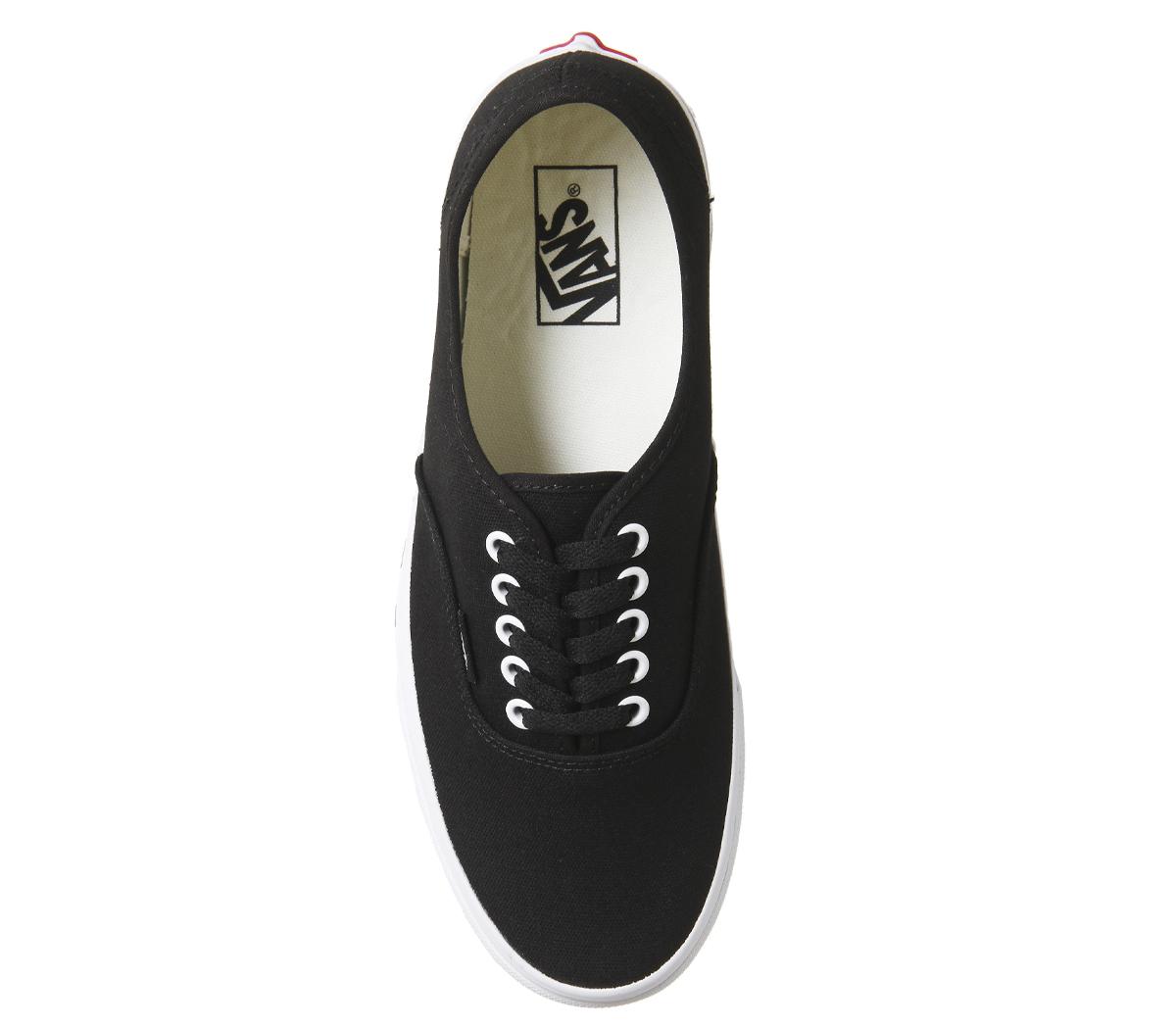 Zapatillas para hombre Vans Auténticas Negras Auténtico Blanco a ... 6a237b4656f